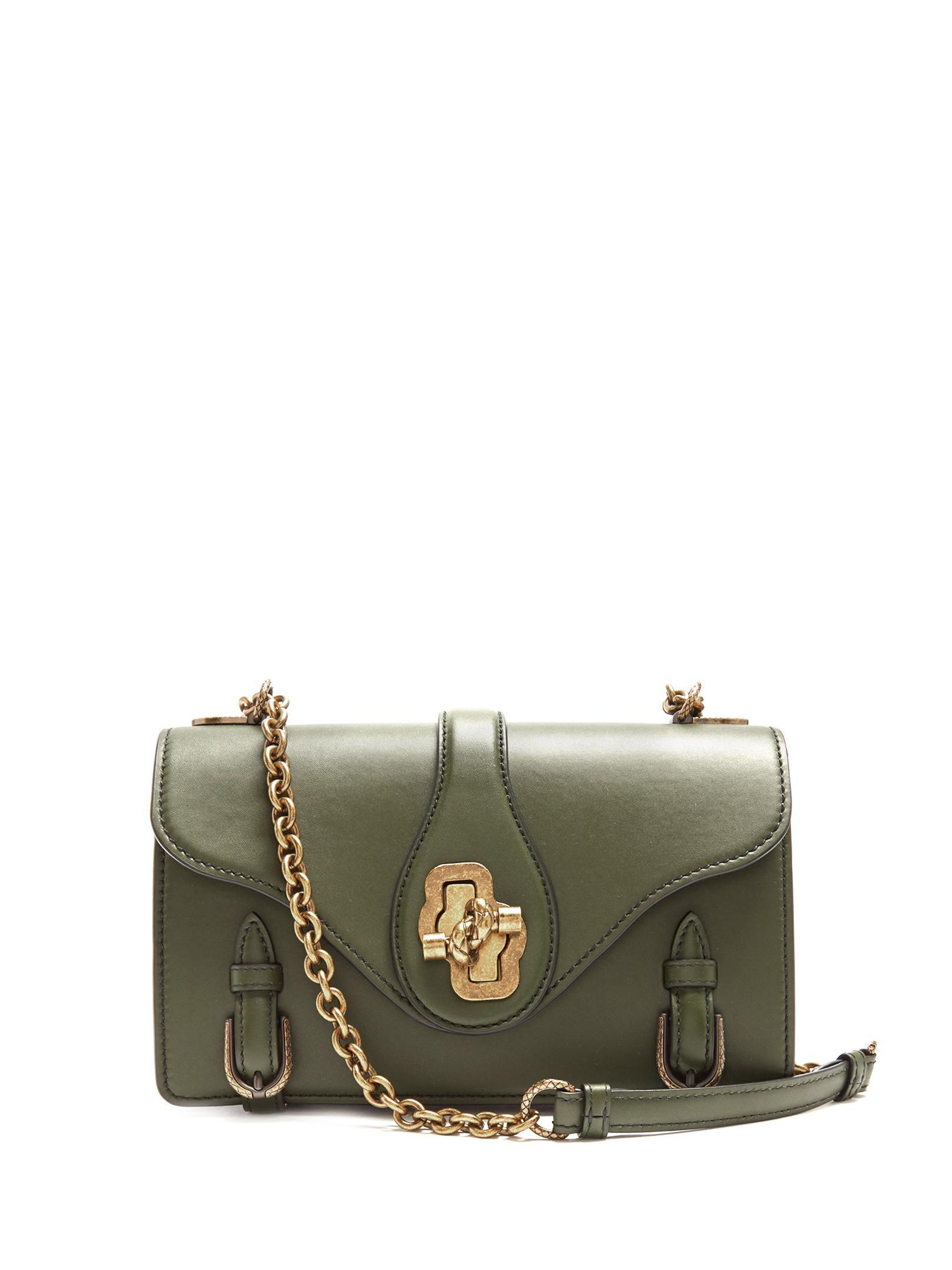 Bottega Veneta City Knot Leather Shoulder Bag in Green - Lyst 06d2b0dece506