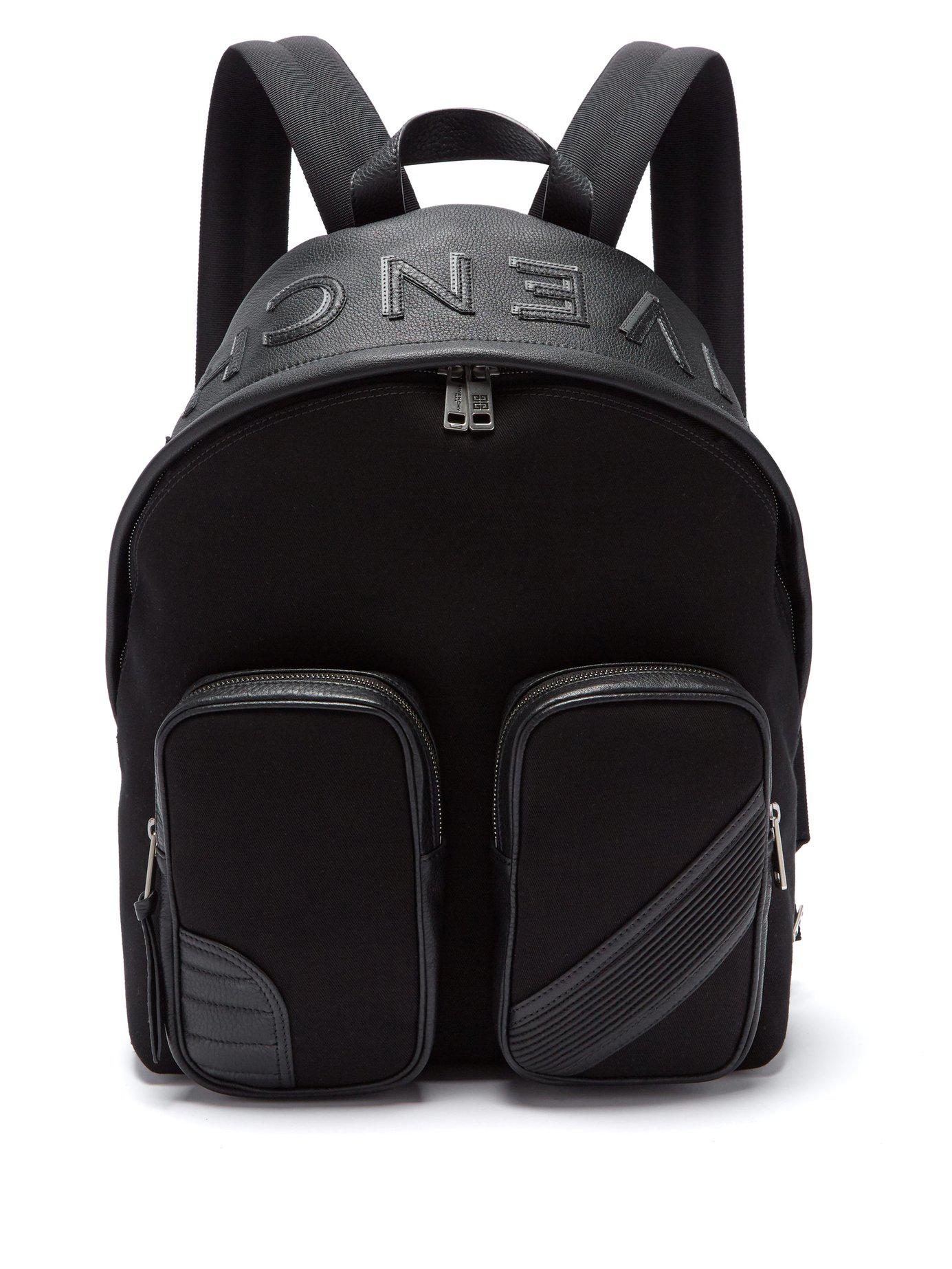7712981ededb Lyst - Givenchy Mc3 Canvas And Leather Backpack in Black for Men