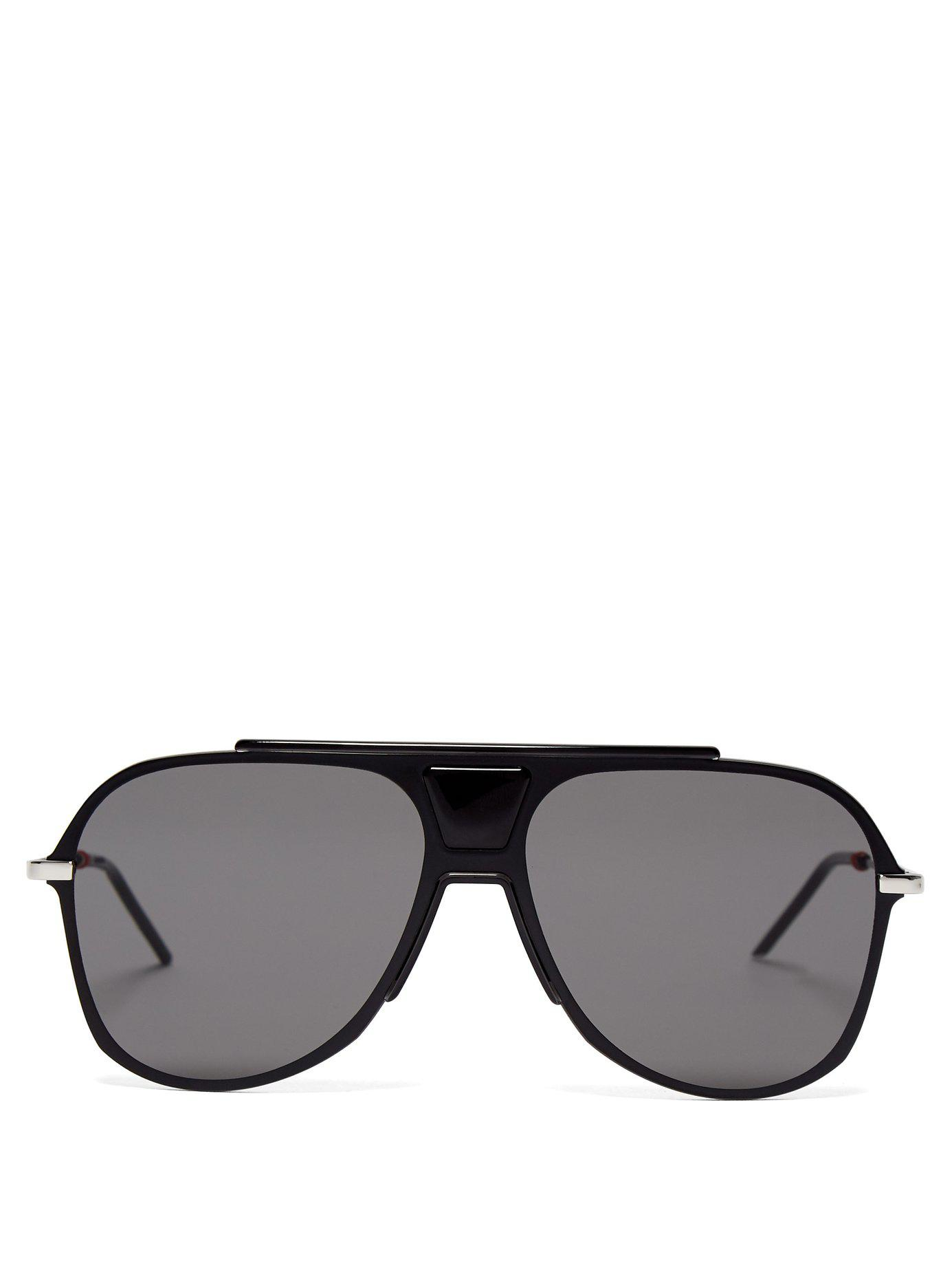 78cd8925a77 Lyst - Dior Homme Aviator Acetate Sunglasses in Black for Men