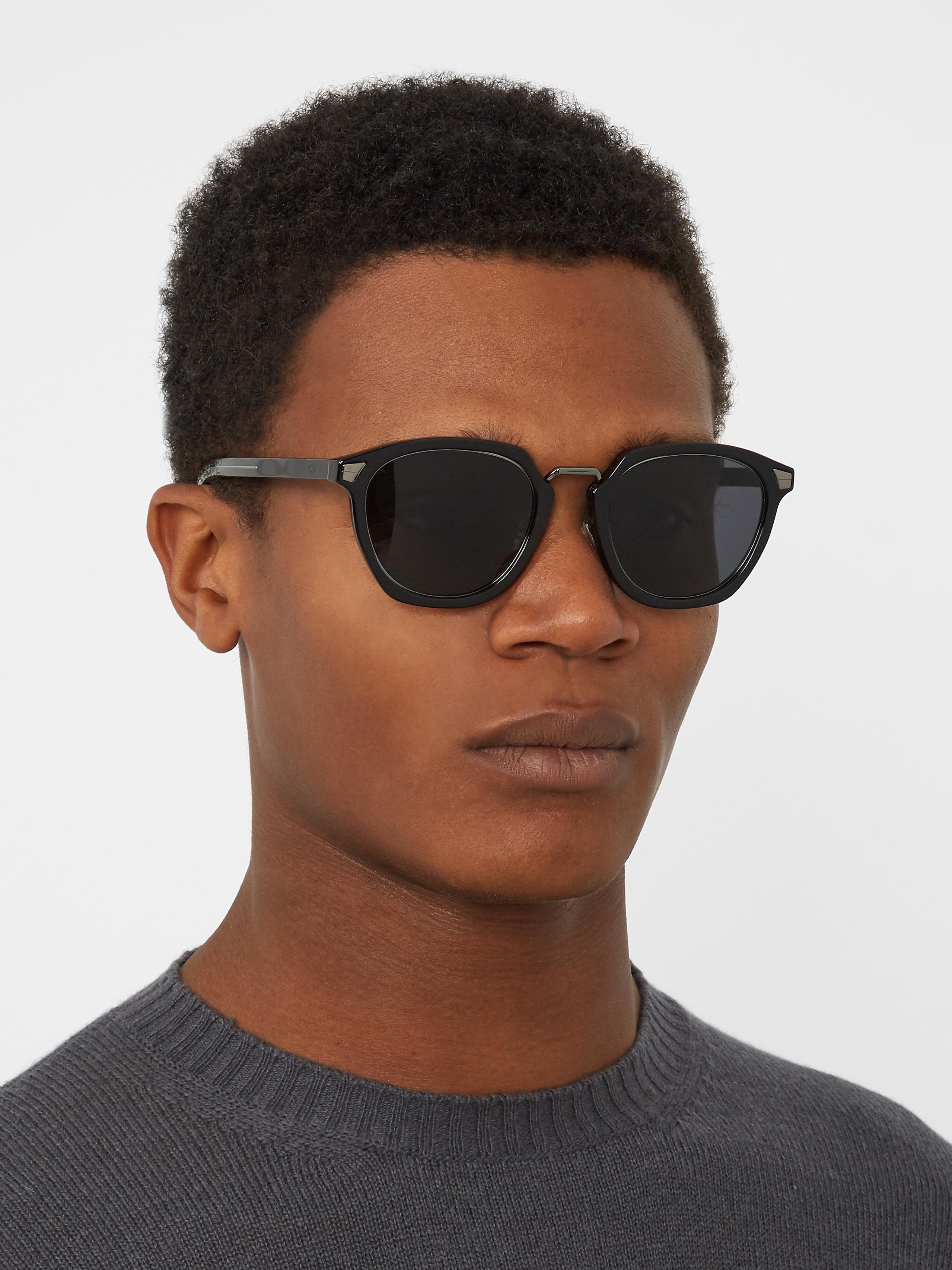 0748ba8dd1cc4 Dior Homme Tailoring 1 D-frame Sunglasses in Black for Men - Lyst