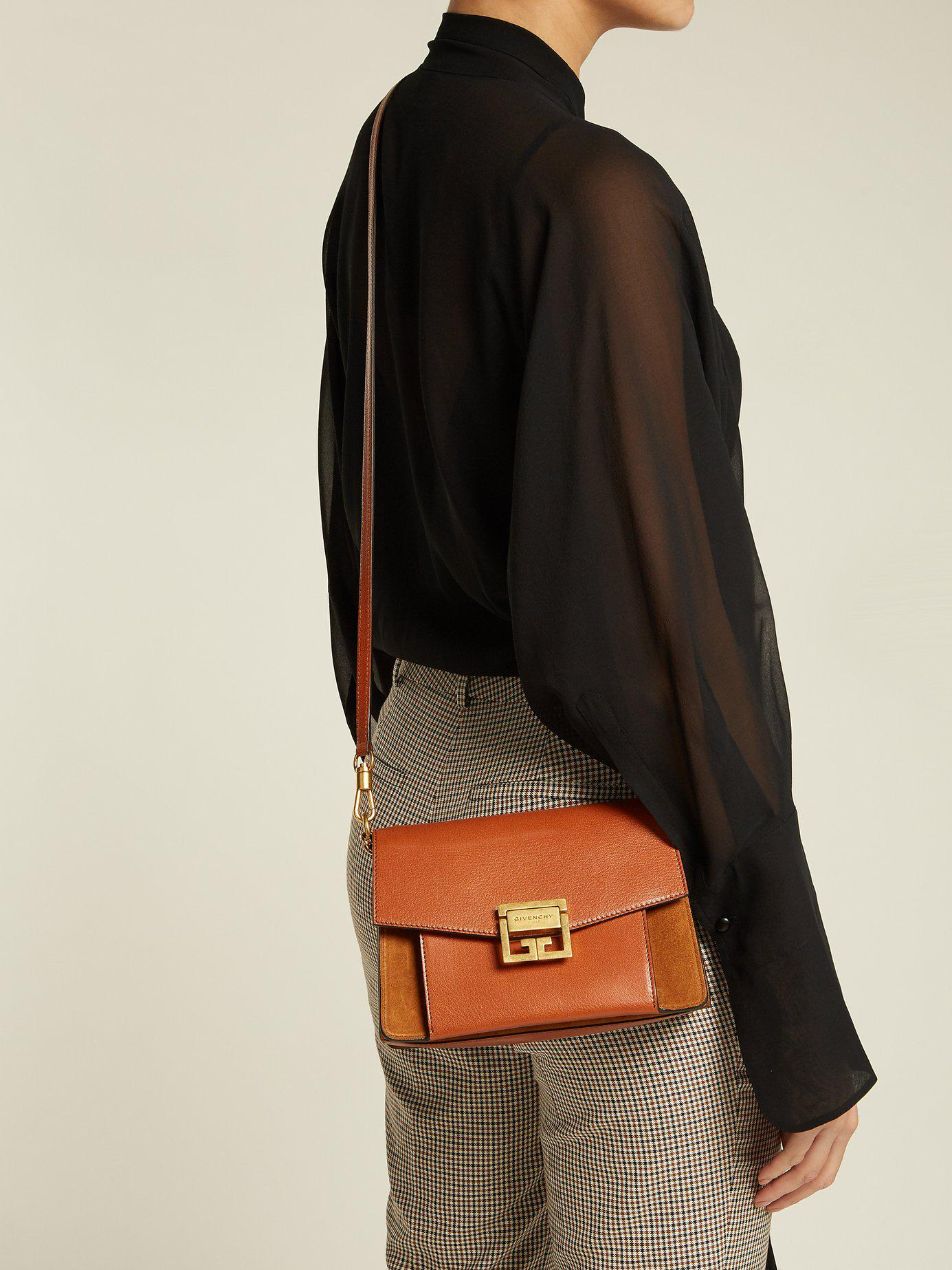 d44d9d969c4a57 Givenchy - Brown Gv3 Mini Suede And Leather Cross Body Bag - Lyst. View  fullscreen
