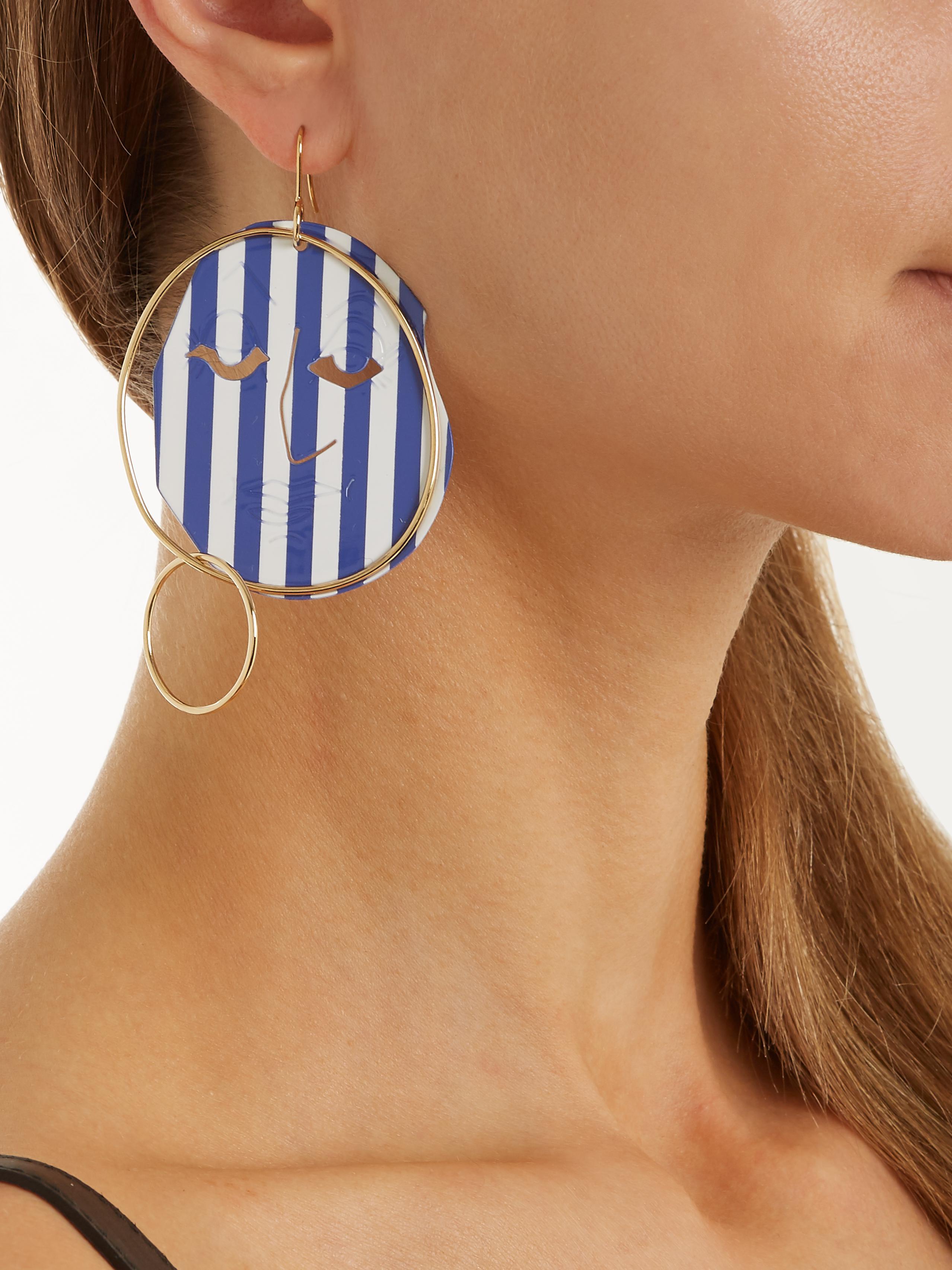 Moon Face striped earrings J.W.Anderson apPV5f