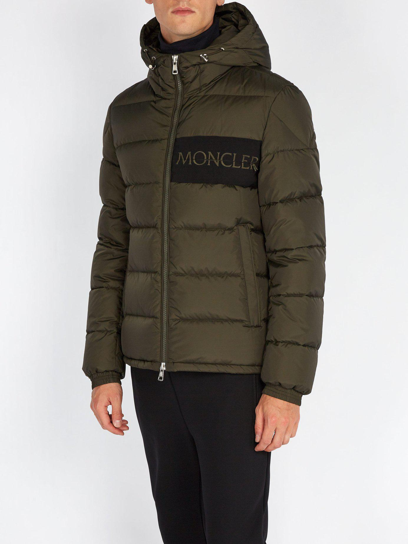 ddb598936 Lyst - Moncler Aiton Quilted Down Jacket in Green for Men