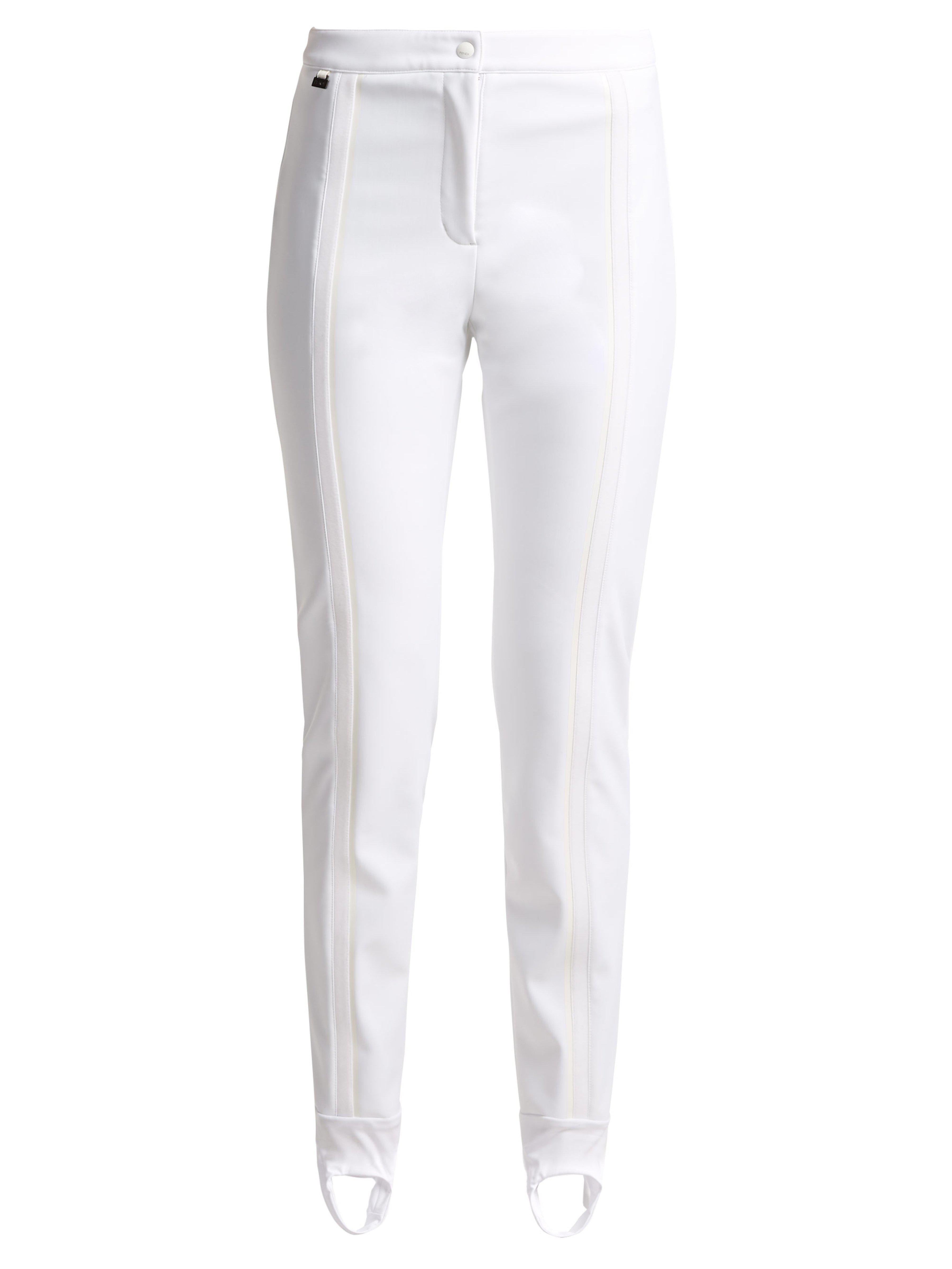 8ad917bf315a3c Fendi Stirrup Ski Trousers in White - Lyst
