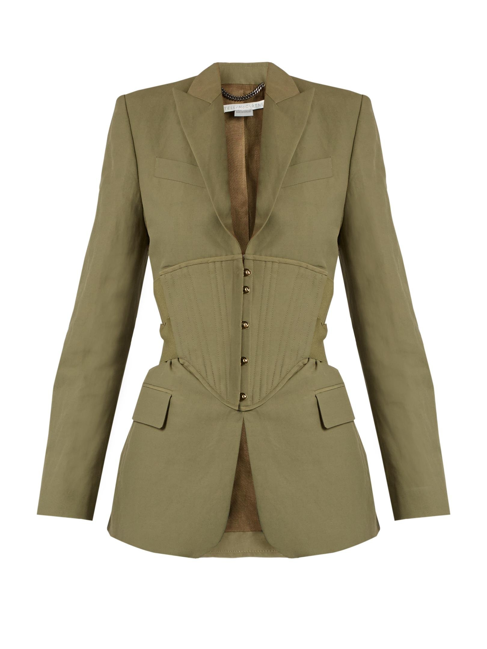 efb1ec715a8 Stella Mccartney Peak-lapel Corset-panel Jacket - Lyst
