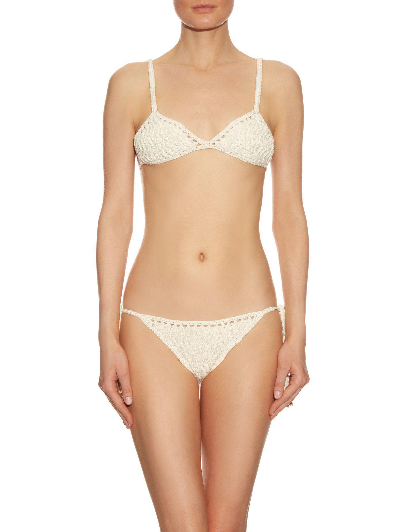 me Laharia Tie Crochet Side Lyst Bikini hizo blanco Briefs Ella RPdSww
