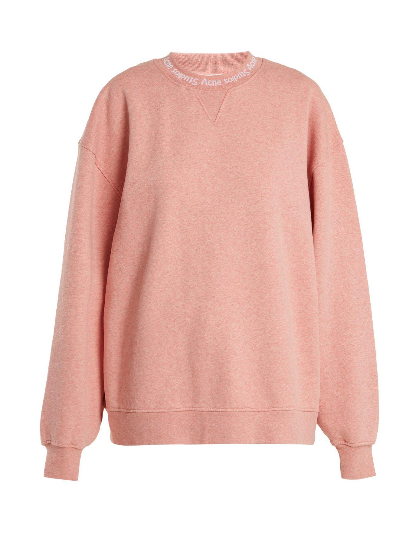 Lyst - Sweat-shirt en coton oversize Yana Acne Studios en coloris Rose 20375fb7a4b