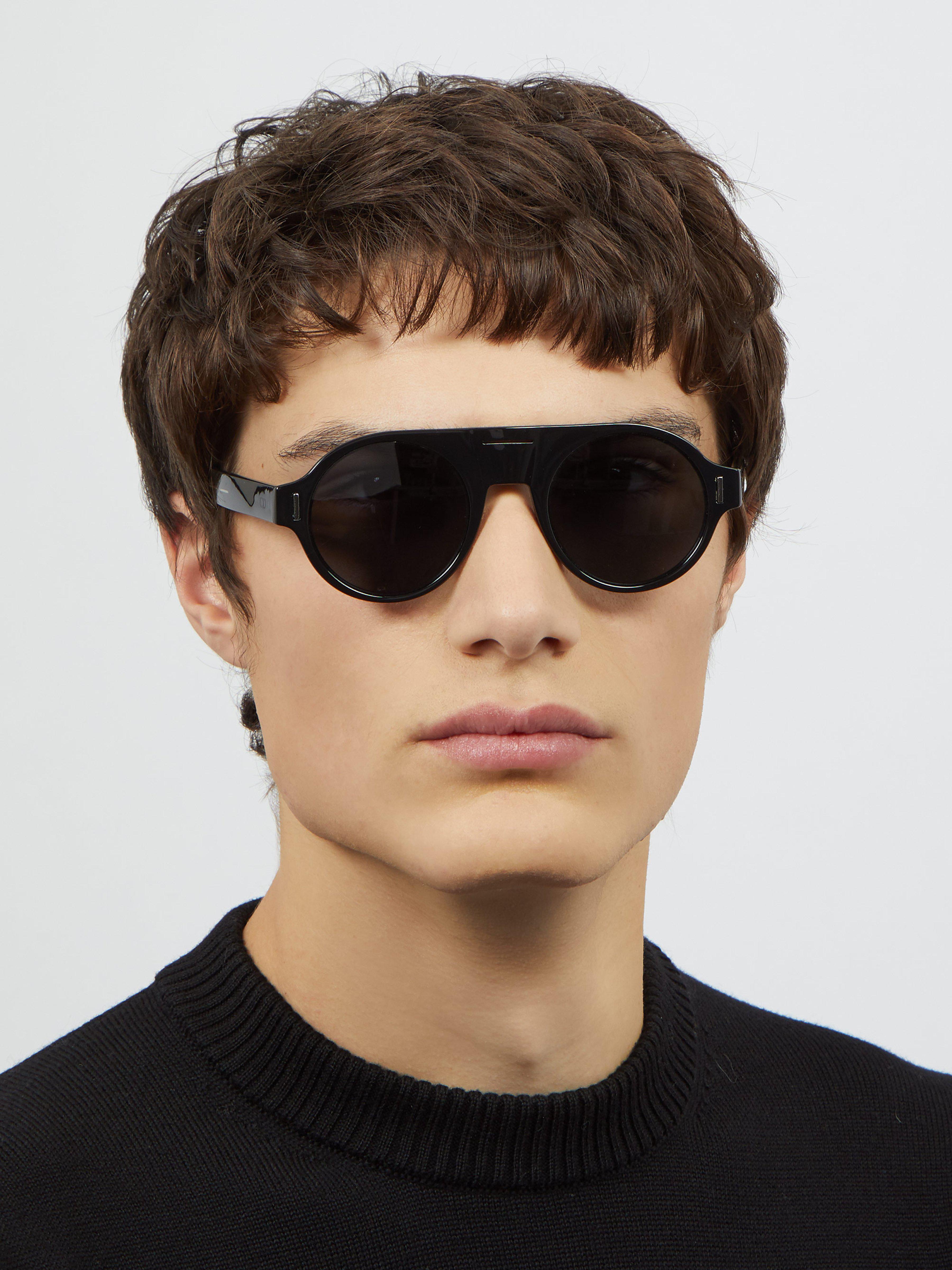 a4d623ba5b Dior Homme - Black Lunettes de soleil rondes en acétate DiorFraction2 for  Men - Lyst. Afficher en plein écran