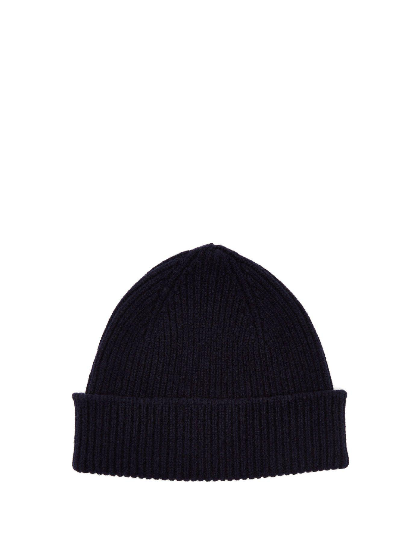 d77af57cacb Lyst - Paul Smith Cashmere And Merino Wool Blend Beanie Hat in Blue ...