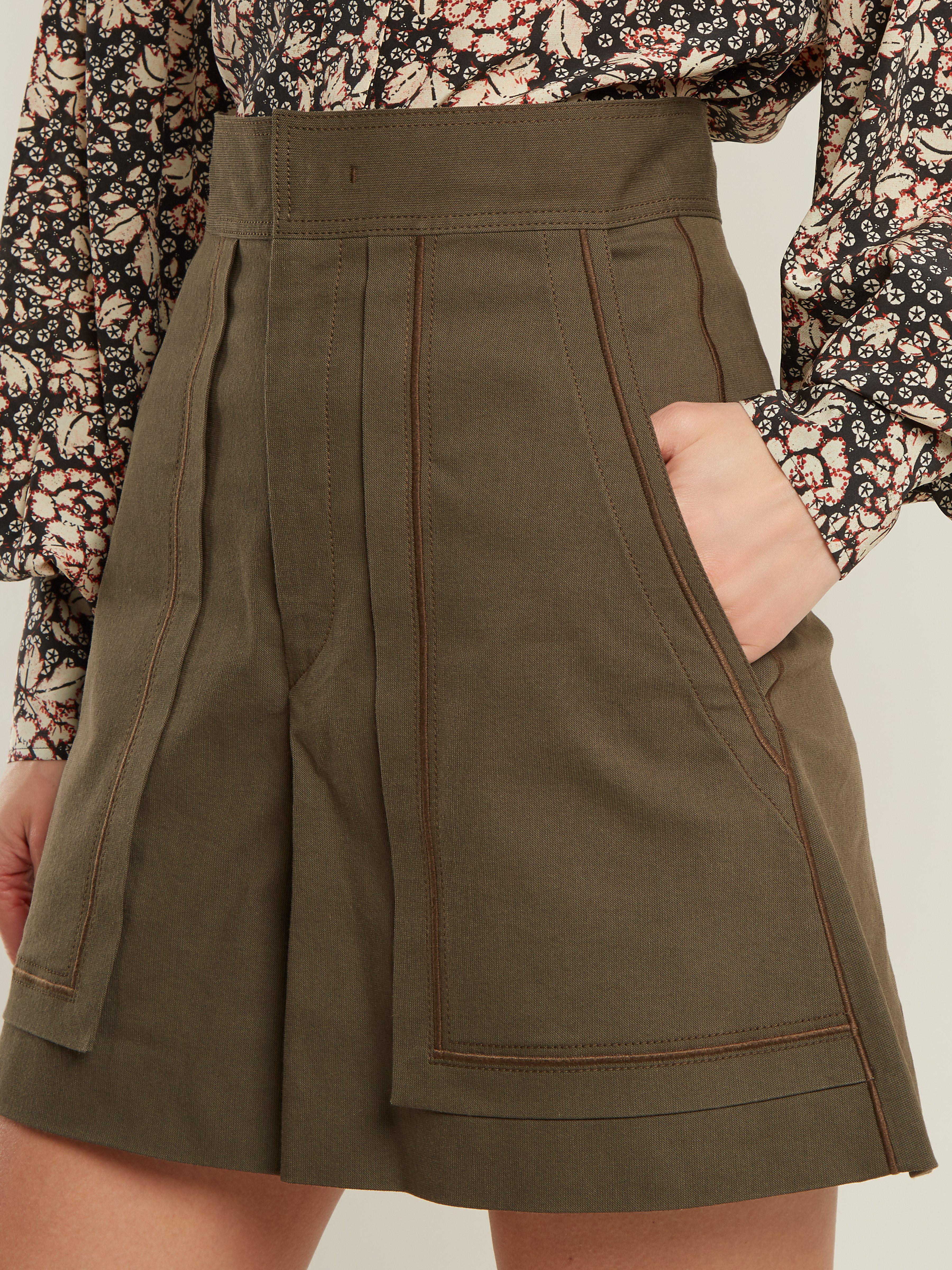3935bc4ab8 Isabel Marant - Green Lucky A Line High Waist Shorts - Lyst. View fullscreen