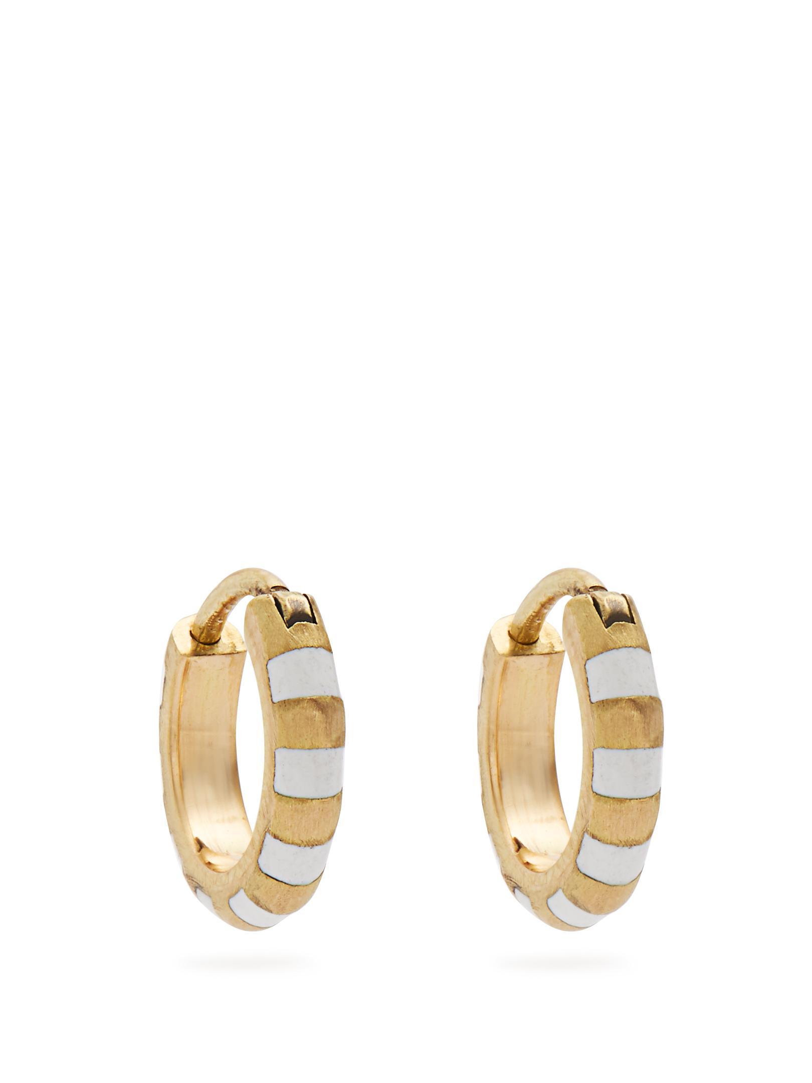 Diamond, enamel & yellow-gold earrings Marc Alary