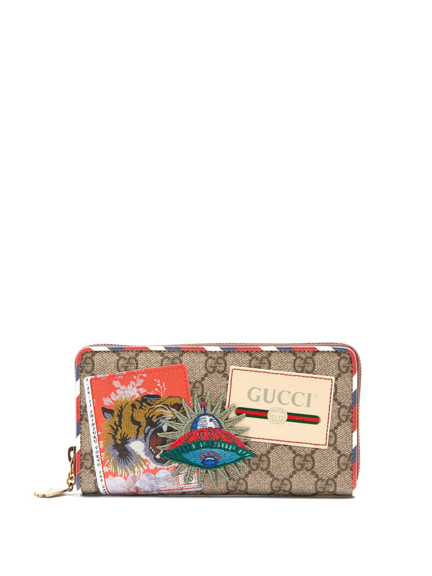 0dace47ed98 Gucci - Brown Courrier Gg Supreme Zip-around Wallet for Men - Lyst. View  fullscreen