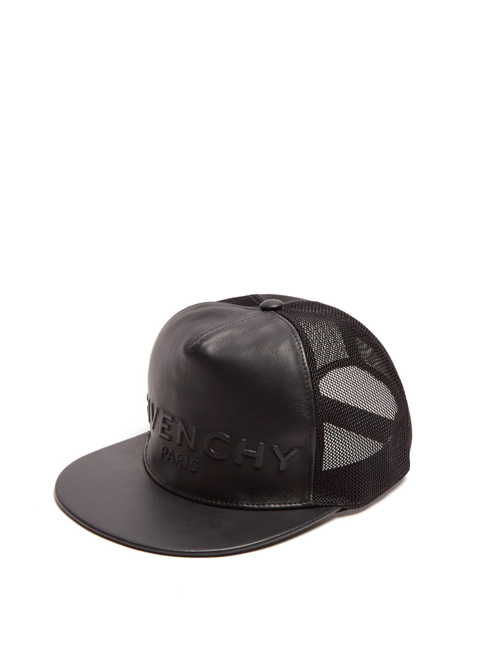 25edeab0d2f Lyst - Givenchy Logo-embossed Leather Cap in Black for Men
