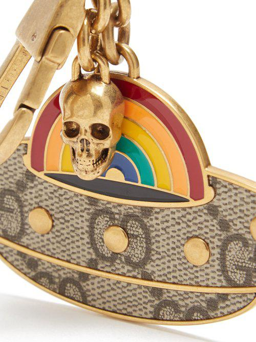 24facbc945e Gucci Ufo Key Ring in Metallic - Lyst