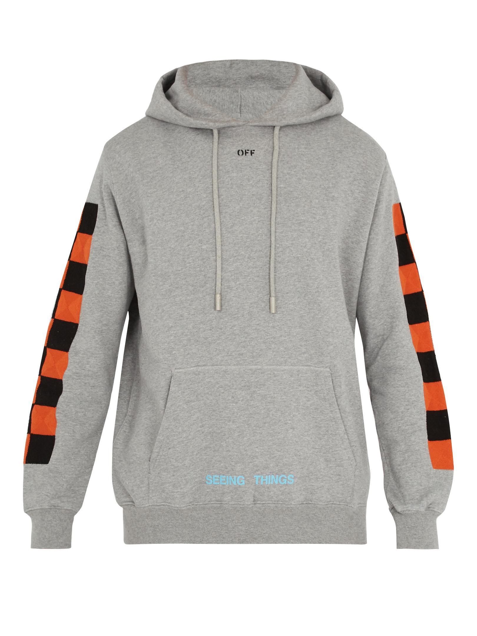 Off-white hooded sweatshirt - Grey