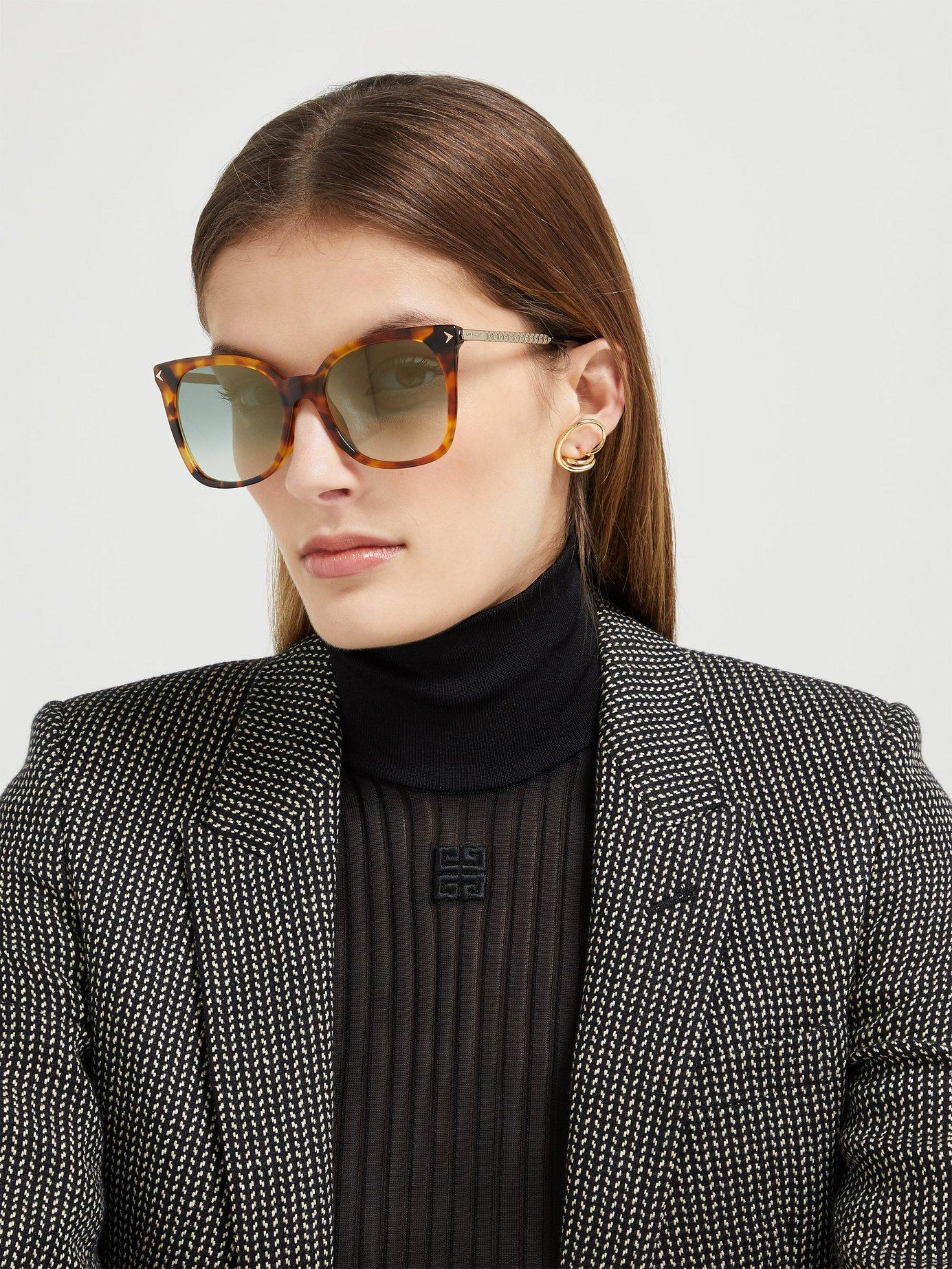 8c6d920282e Givenchy - Multicolor Oversized Square Frame Sunglasses - Lyst. View  fullscreen