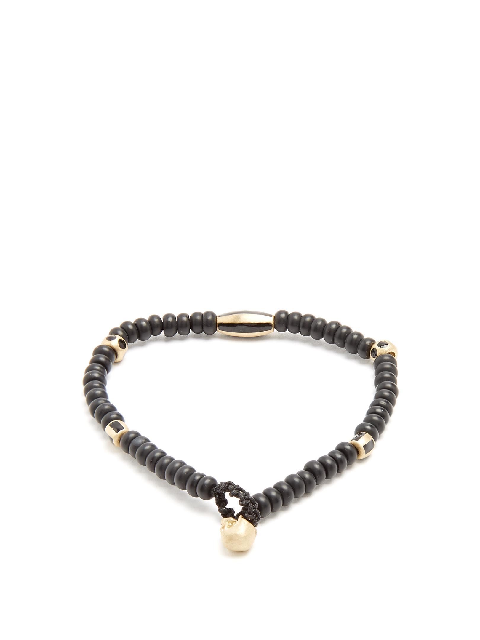 Bead, enamel and yellow-gold bracelet Luis Morais