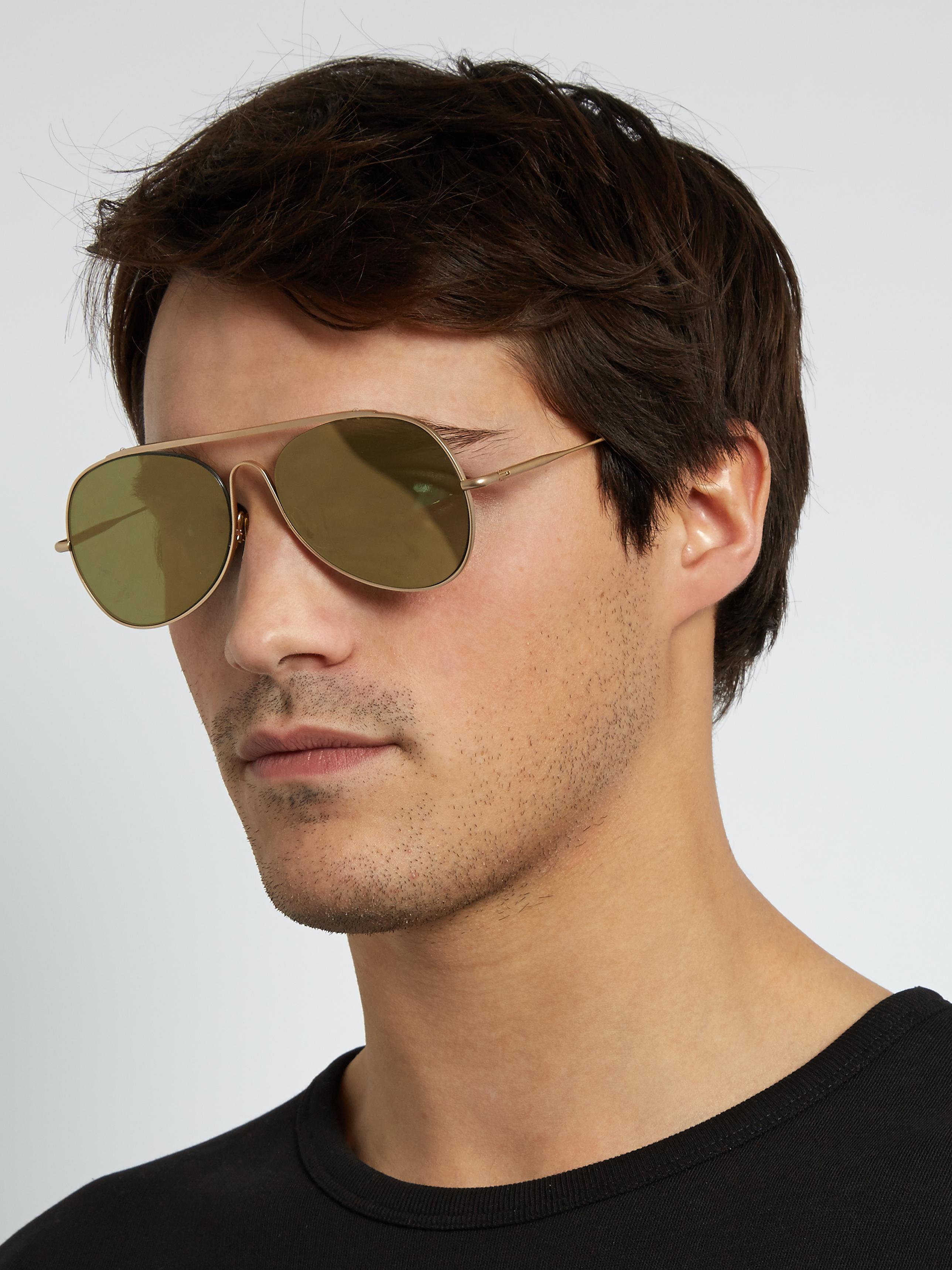 Gold Spitfire Large Sunglasses Acne Studios twH8Z
