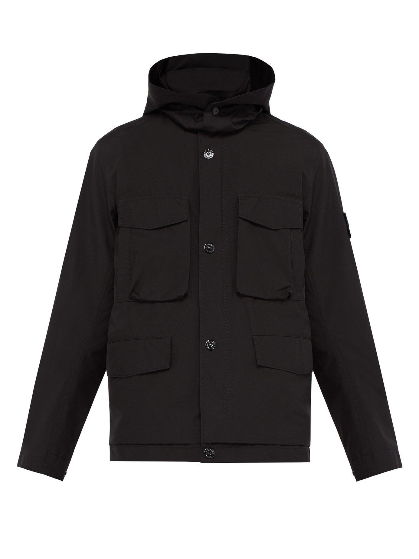 387506049 Men's Black Packaway Goretex Field Jacket