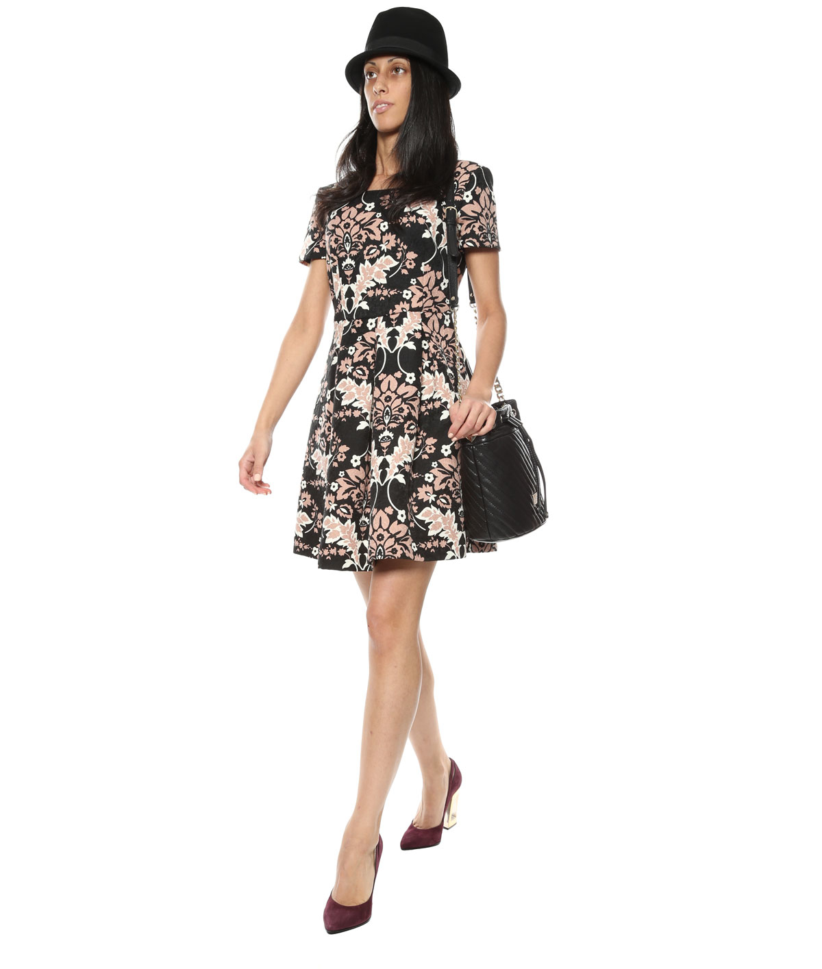 Liu jo Printed Dress in Black