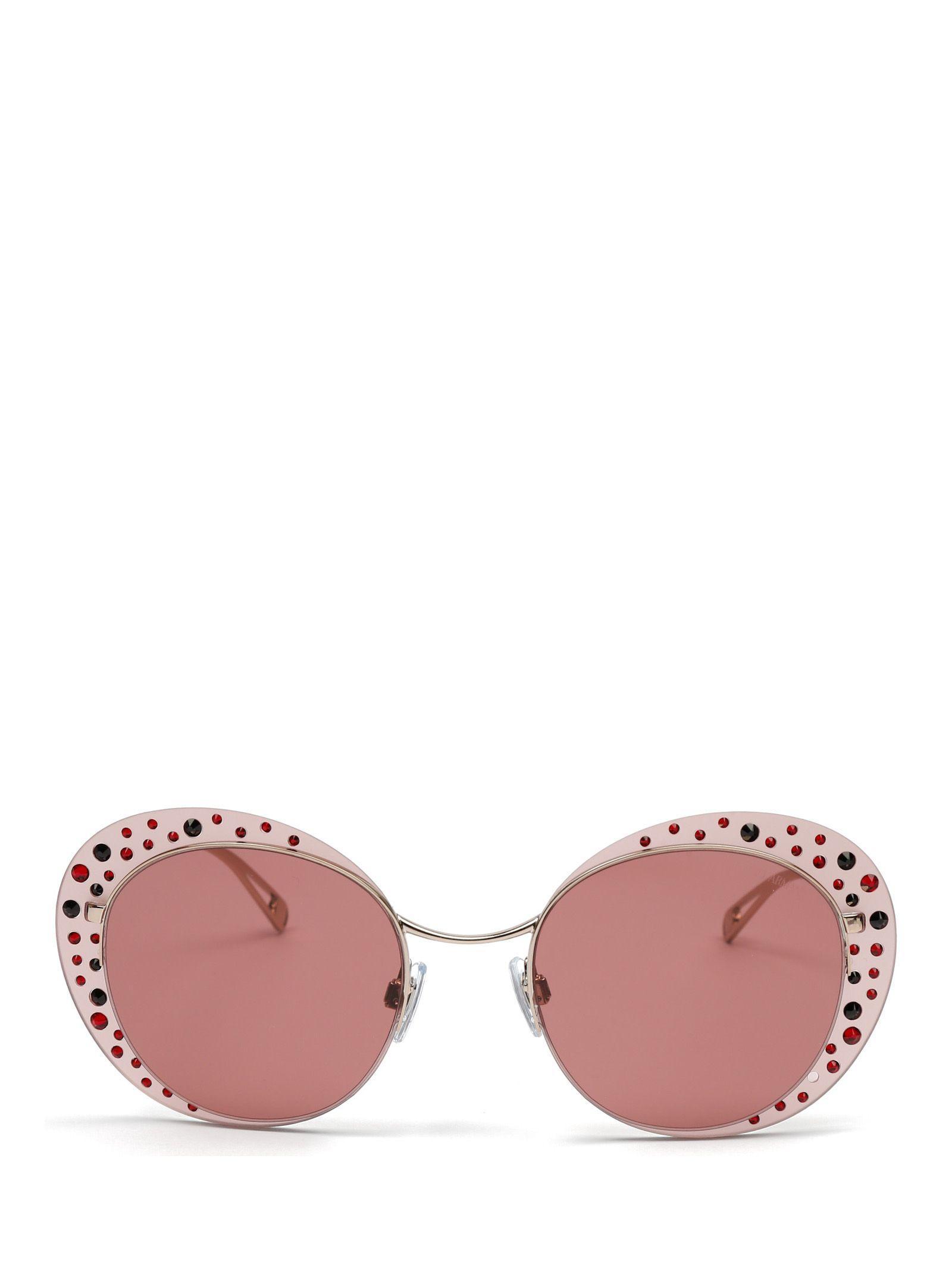 25473ae2e87 Lyst - Giorgio Armani Pink Metal Sunglasses in Pink