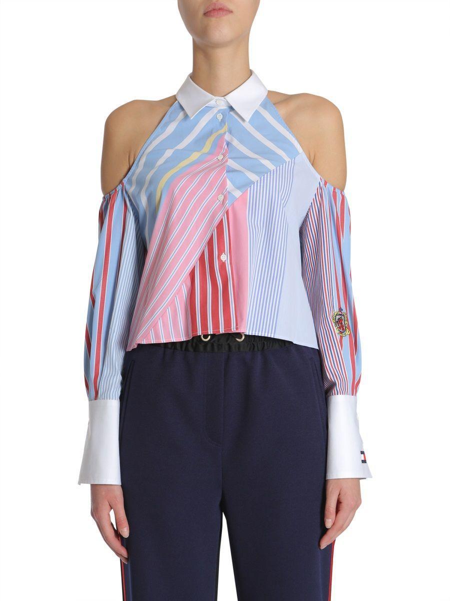 2b0d1df1 Tommy Hilfiger. Women's Blue Multicolour Cotton Blouse