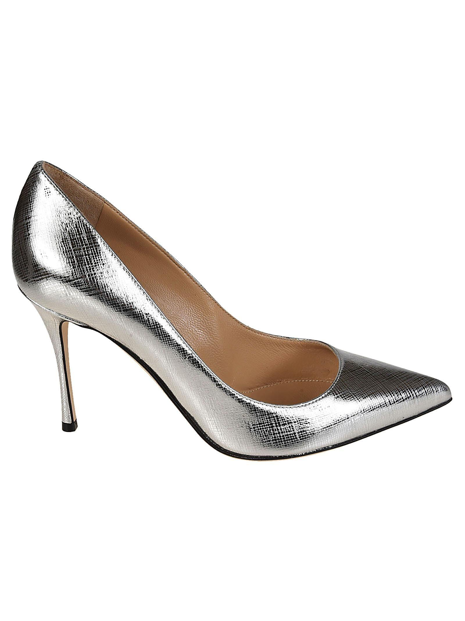a79f644c70 Sergio Rossi Silver Leather Pumps in Metallic - Lyst