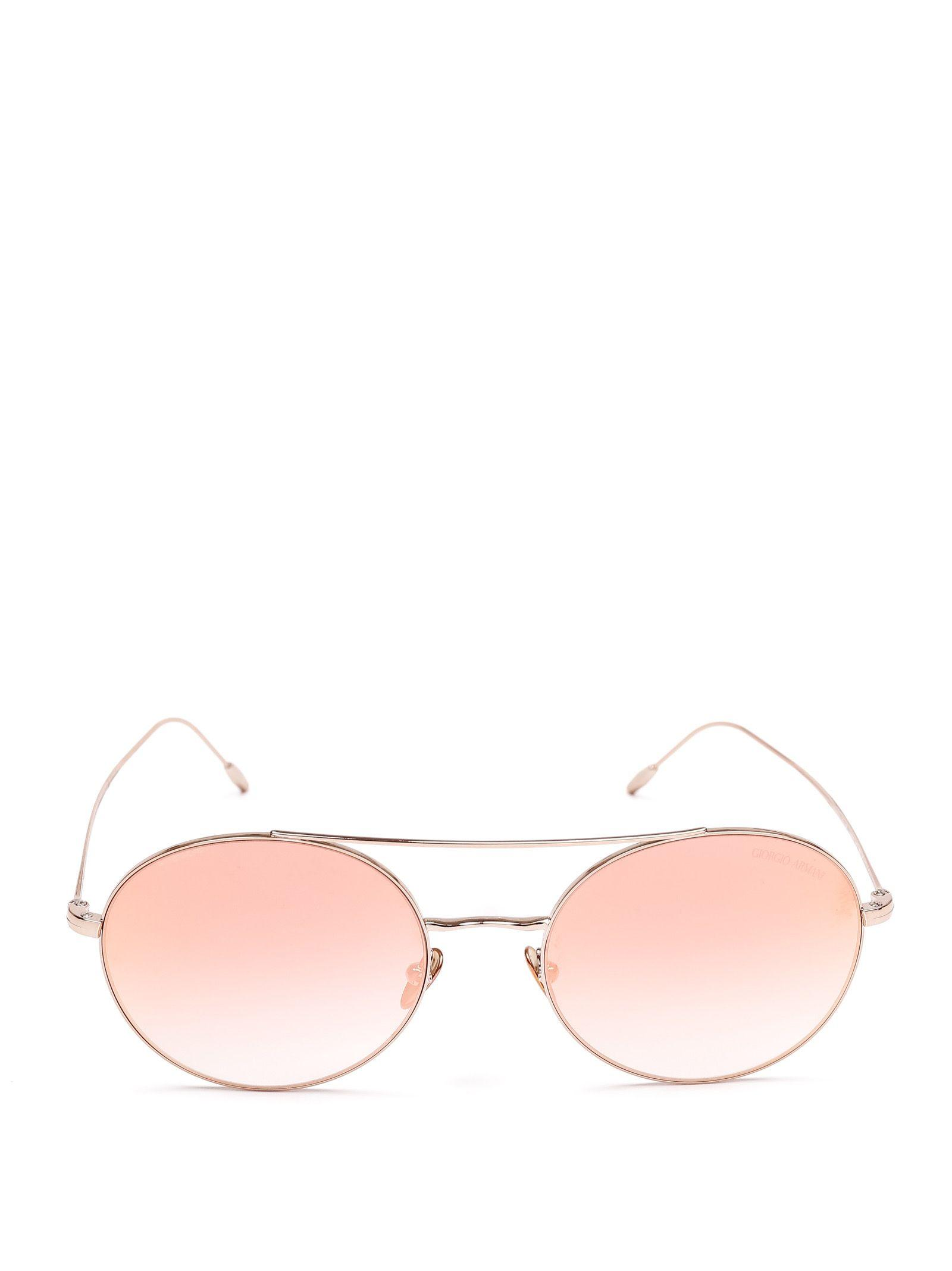 488f914c7a4 Giorgio Armani Gold Metal Sunglasses in Metallic - Lyst