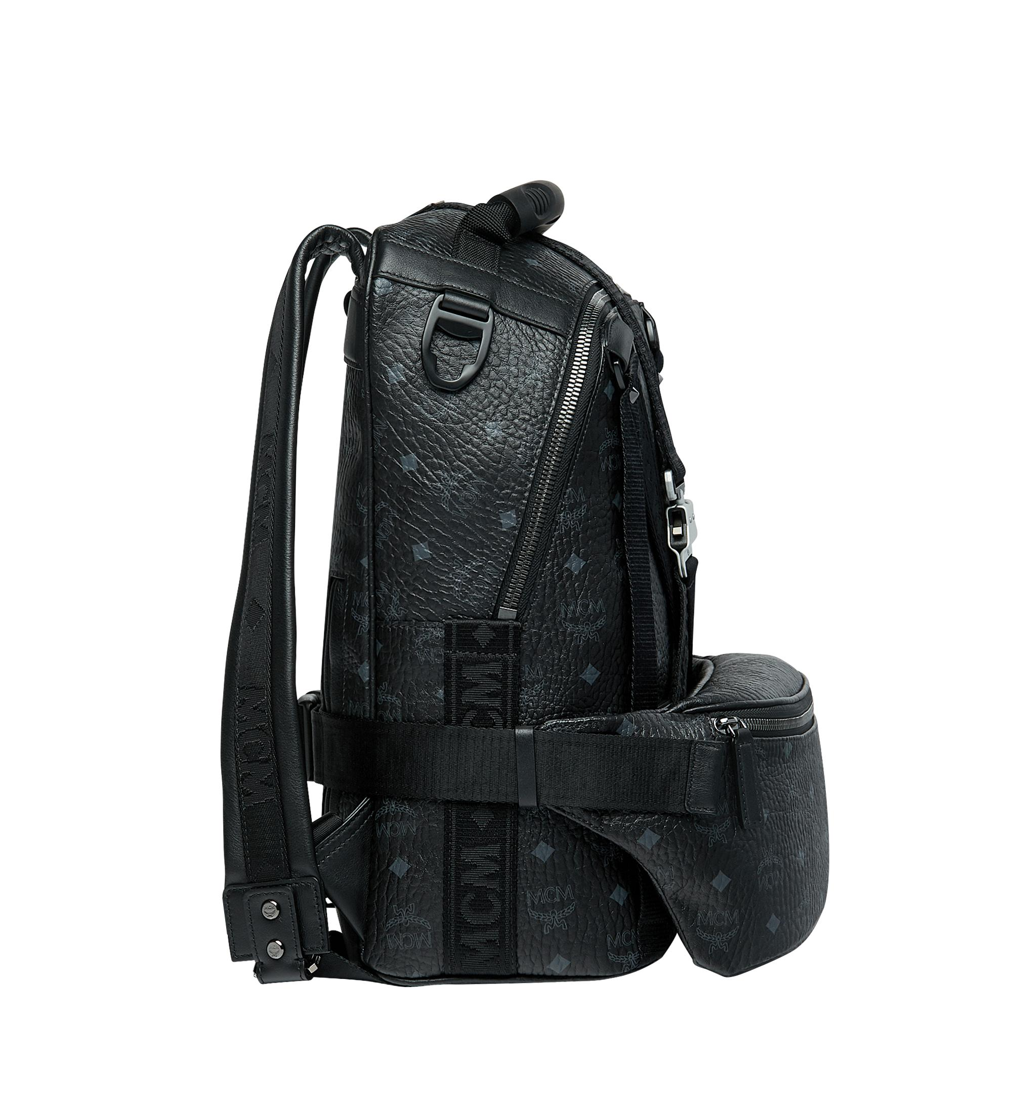 a338f214e1bc8f MCM - Black Jemison Backpack And Belt Bag In Visetos - Lyst. View fullscreen
