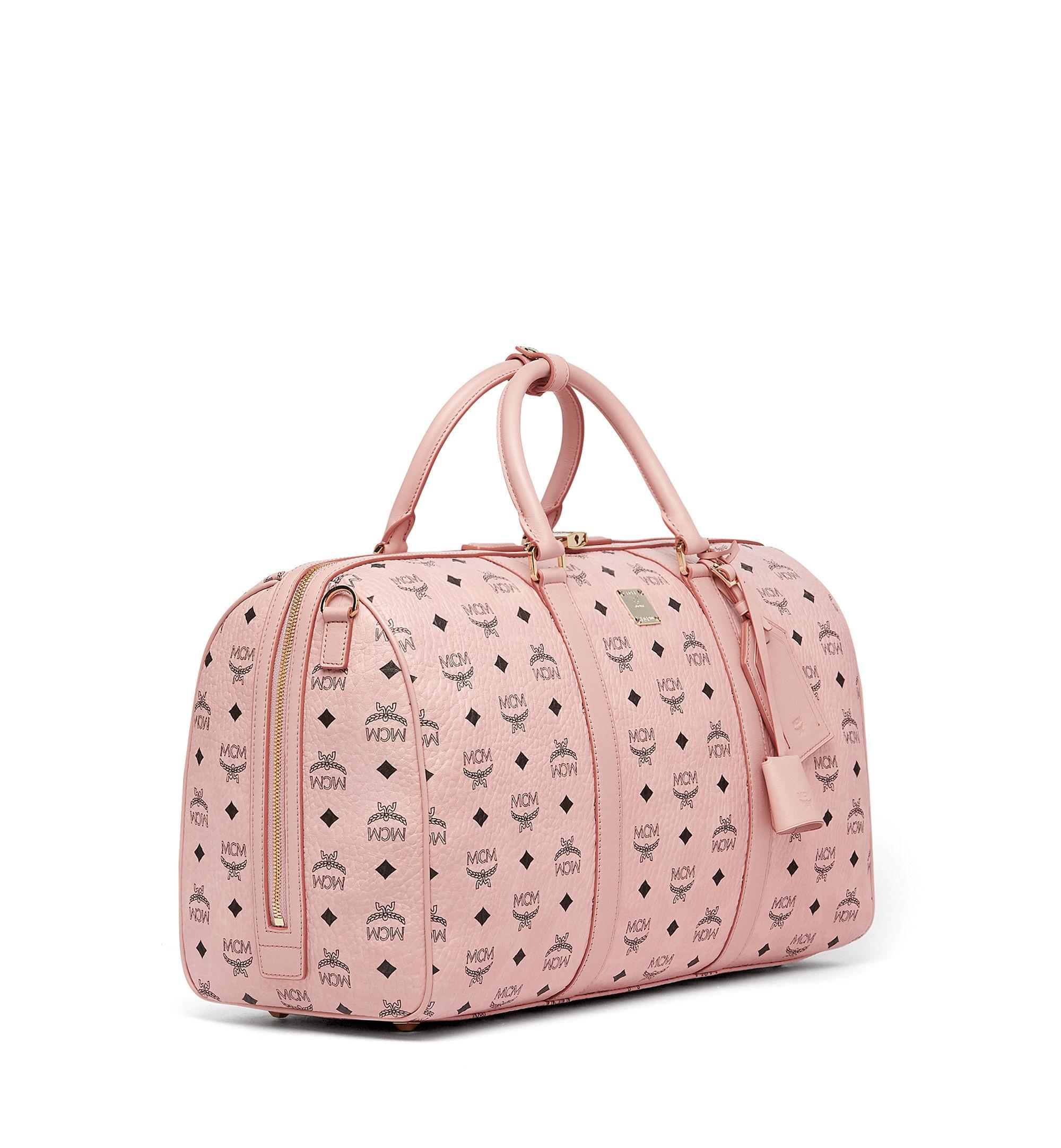 01eca955c38 Lyst - MCM Traveler Weekender In Visetos in Pink