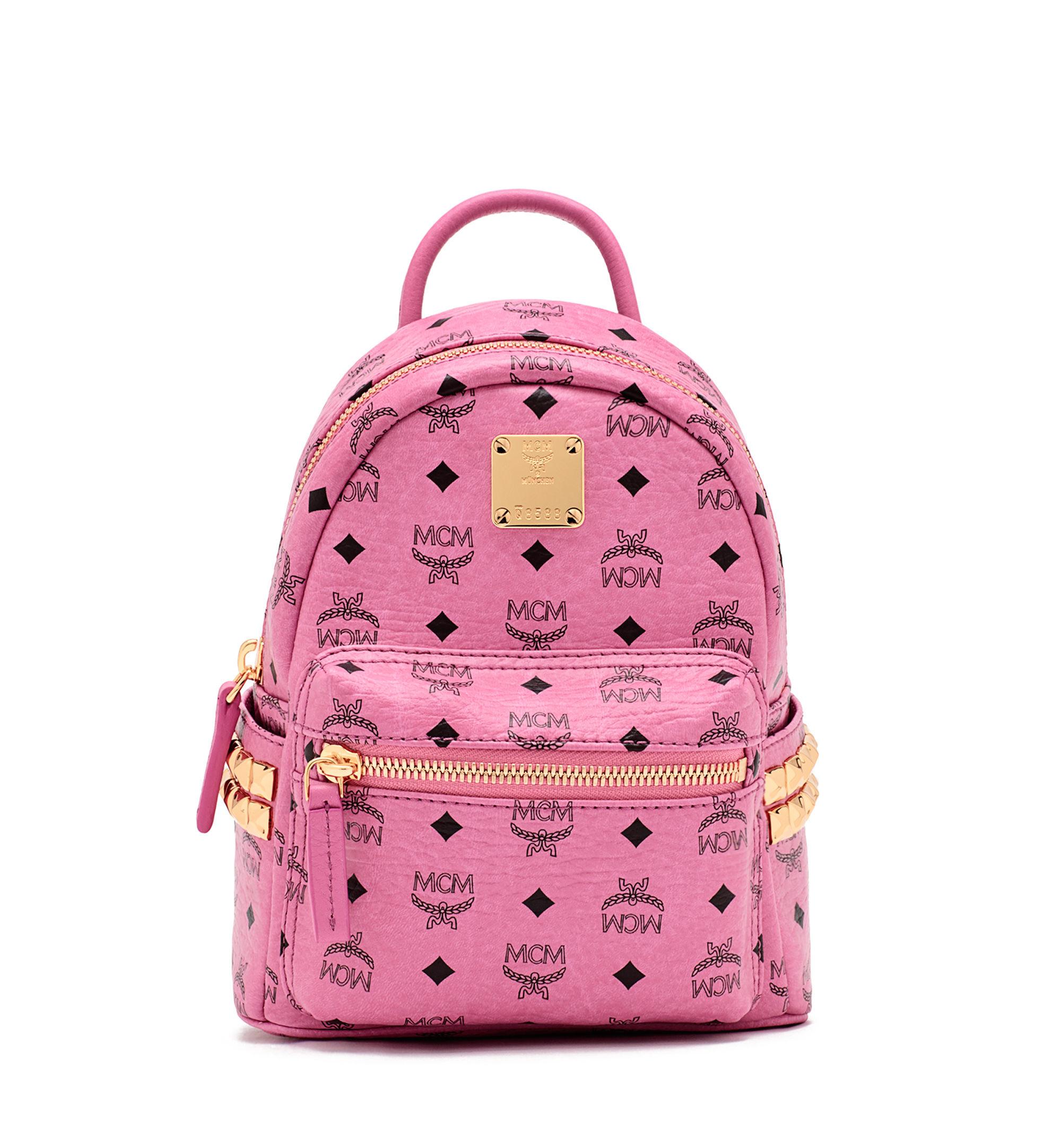 Mcm Stark Sprinkle Stud Medium Coated Canvas Backpack in ...