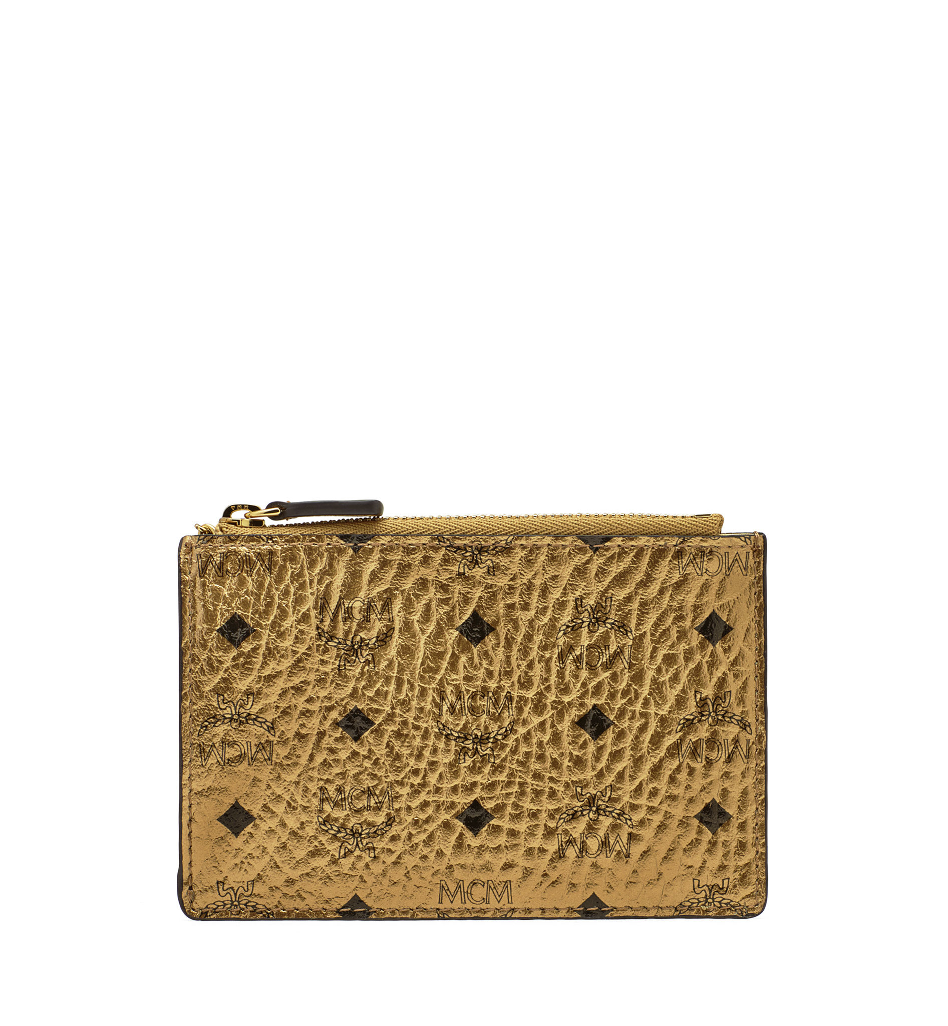 Mcm Color Visetos Key Pouch in Yellow