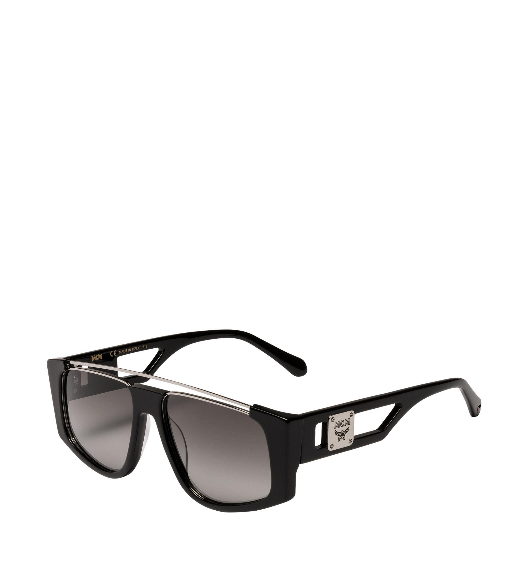 568875f83d8 MCM - Black Square Logo Plaque Sunglasses for Men - Lyst. View fullscreen
