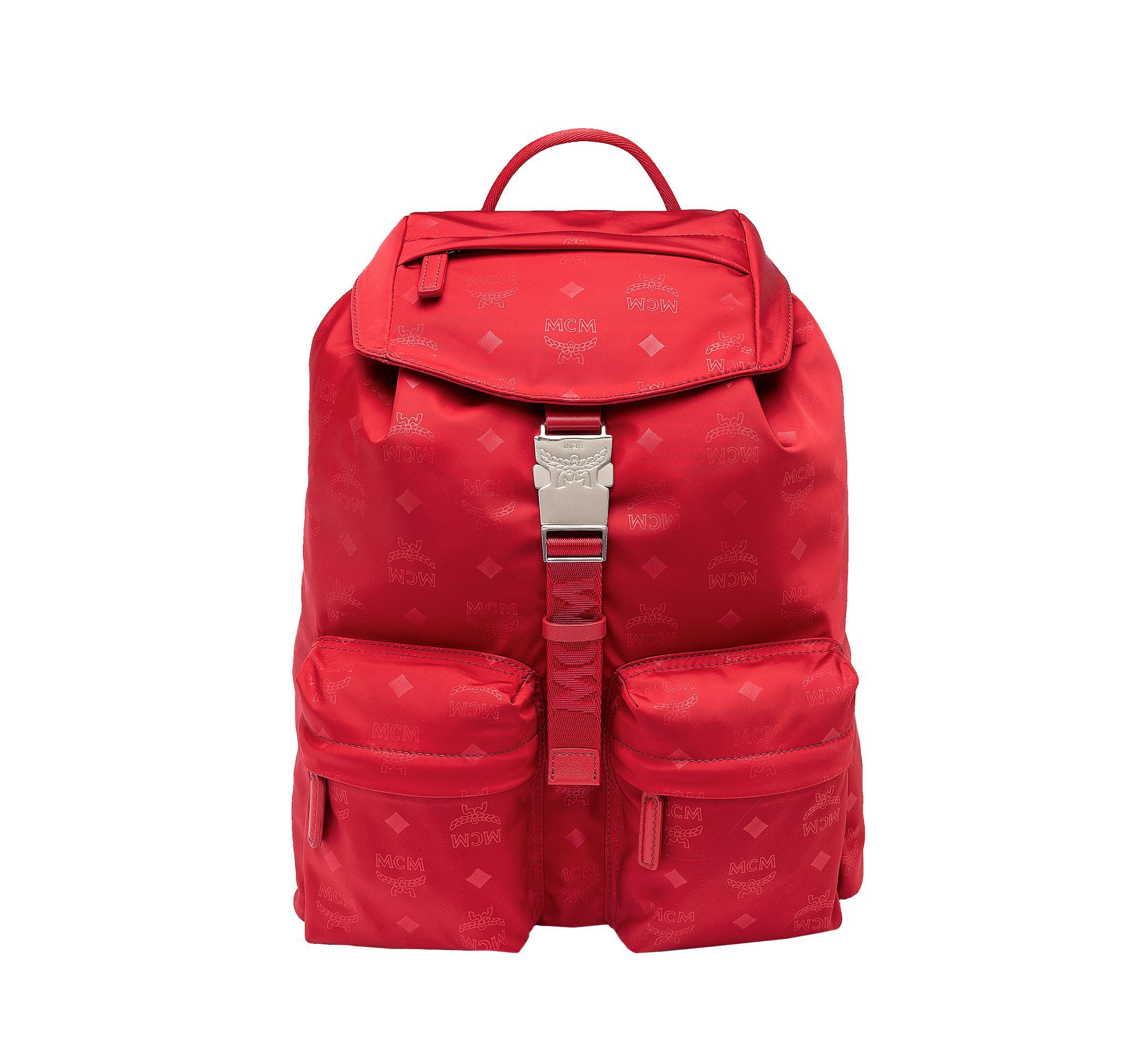 e2f7ca785f2a MCM Dieter Two Pocket Backpack In Monogram Nylon in Red for Men ...