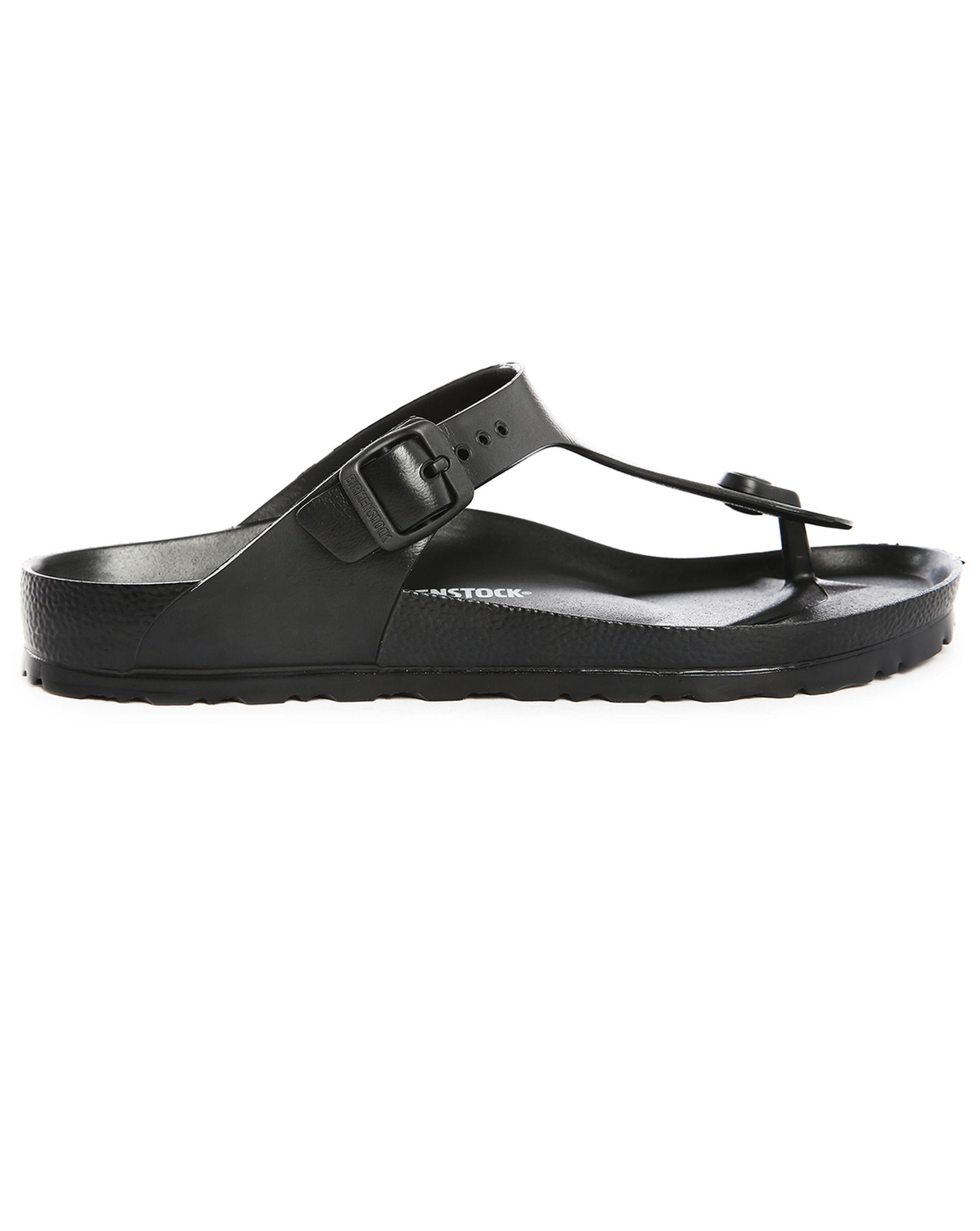 birkenstock black eva gizeh flip flops in black for men lyst. Black Bedroom Furniture Sets. Home Design Ideas