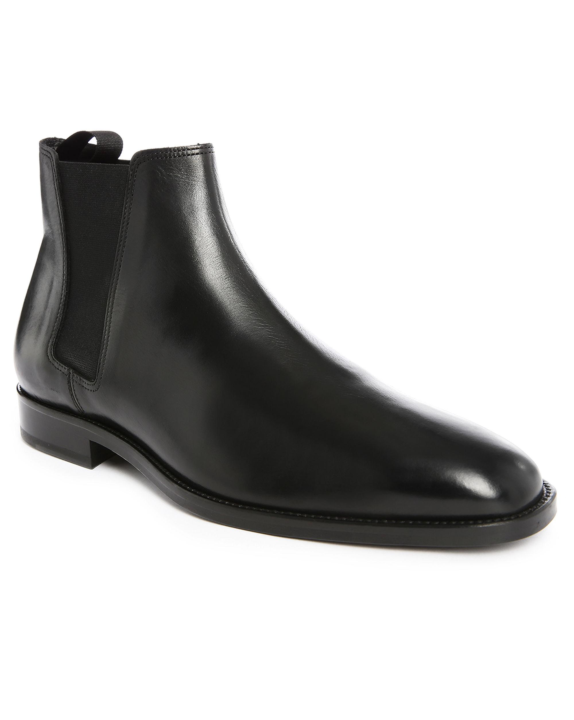 sandro black chelsea boots in black for lyst