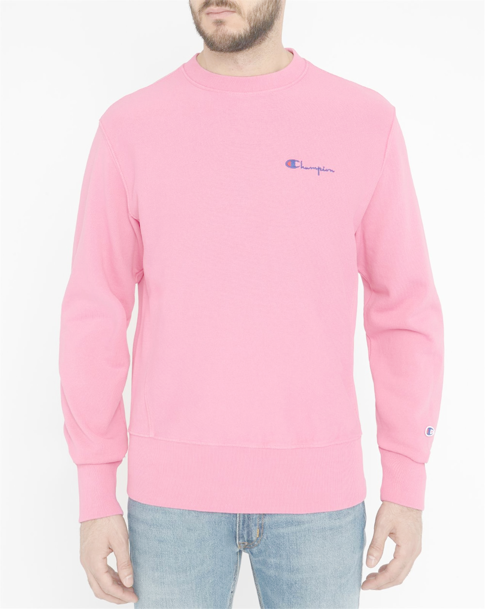 Pink Champion Sweatshirt | Fashion Ql