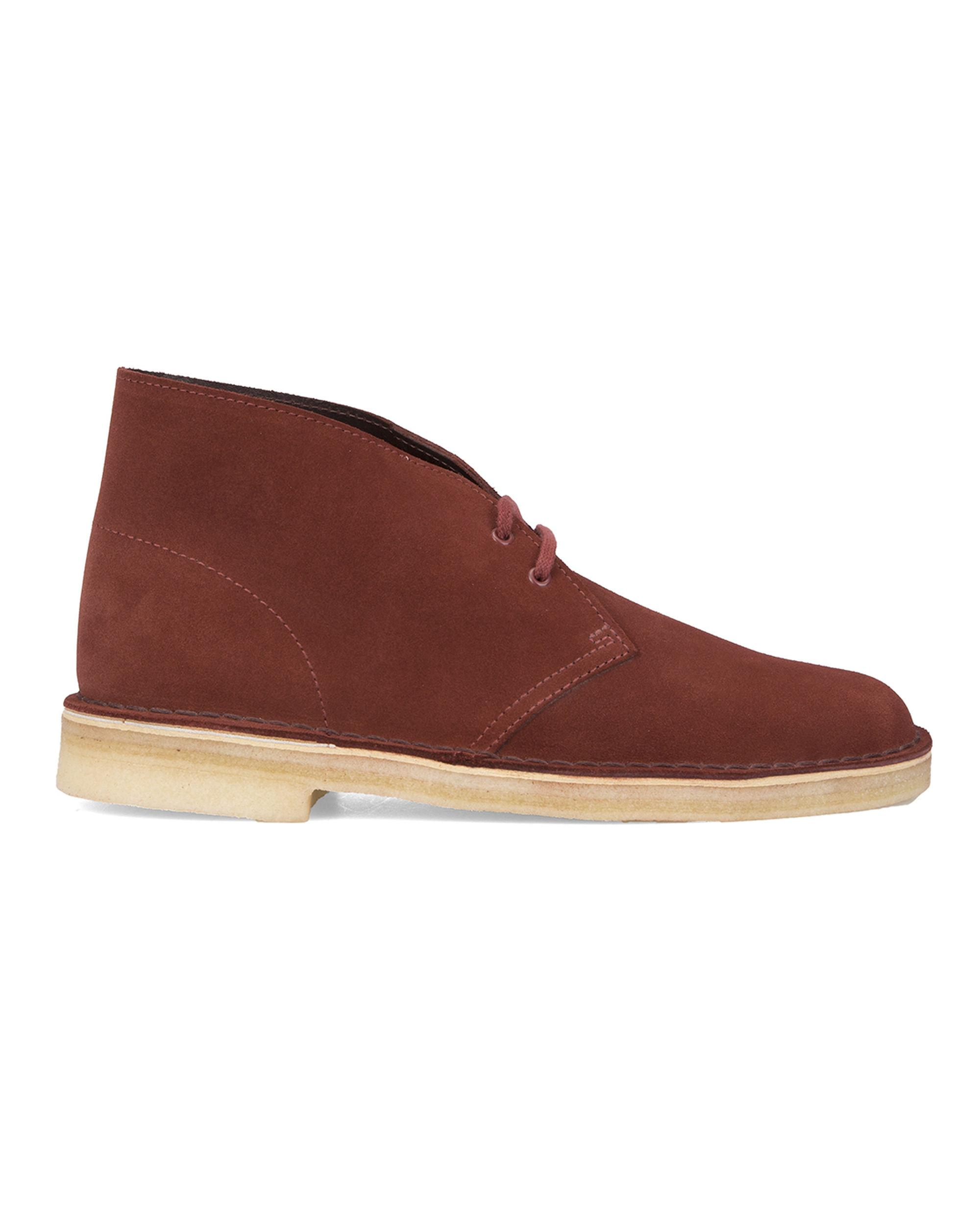 clarks light brown suede desert boots in brown for lyst