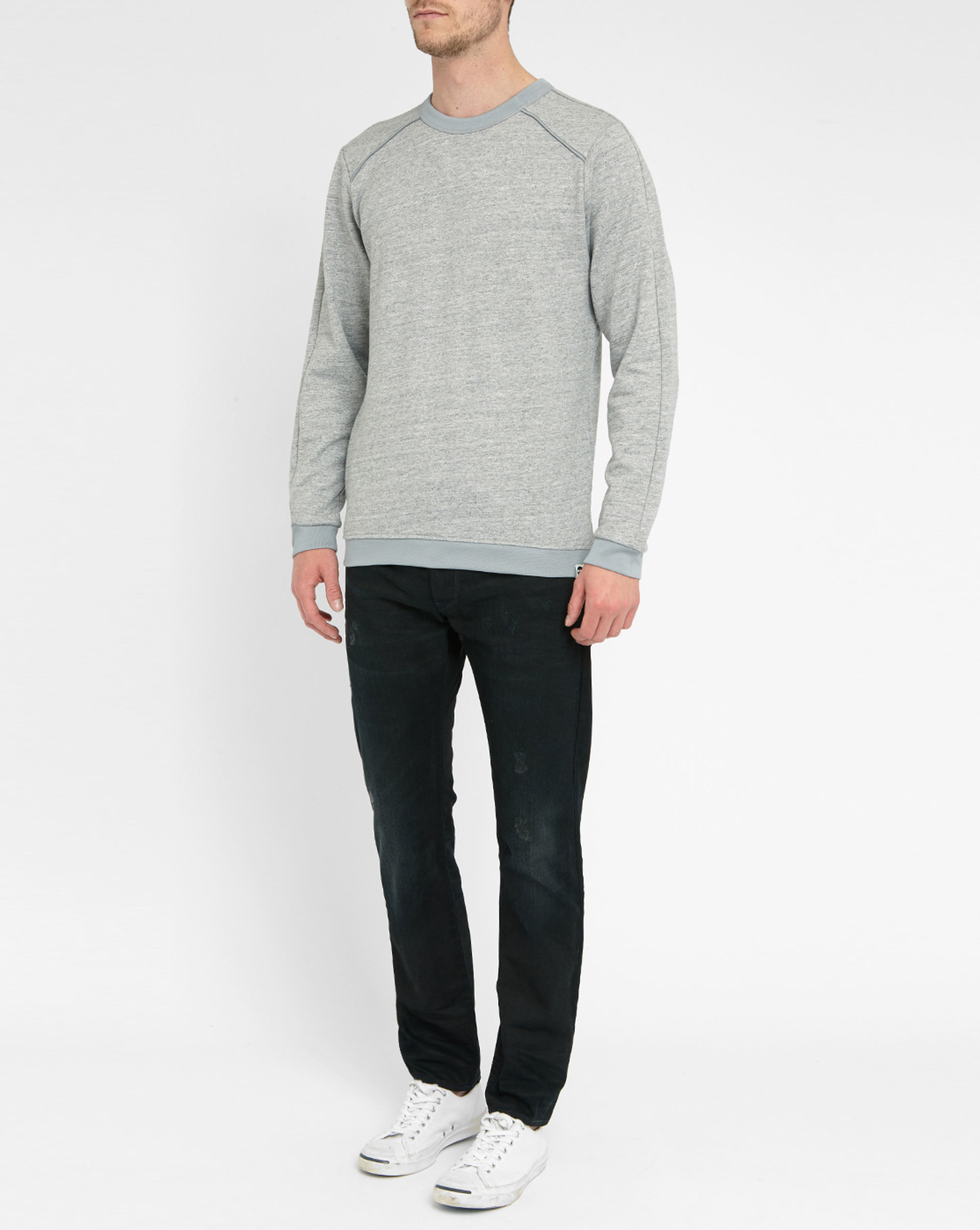 g star raw grey sweatshirt in gray for men lyst. Black Bedroom Furniture Sets. Home Design Ideas