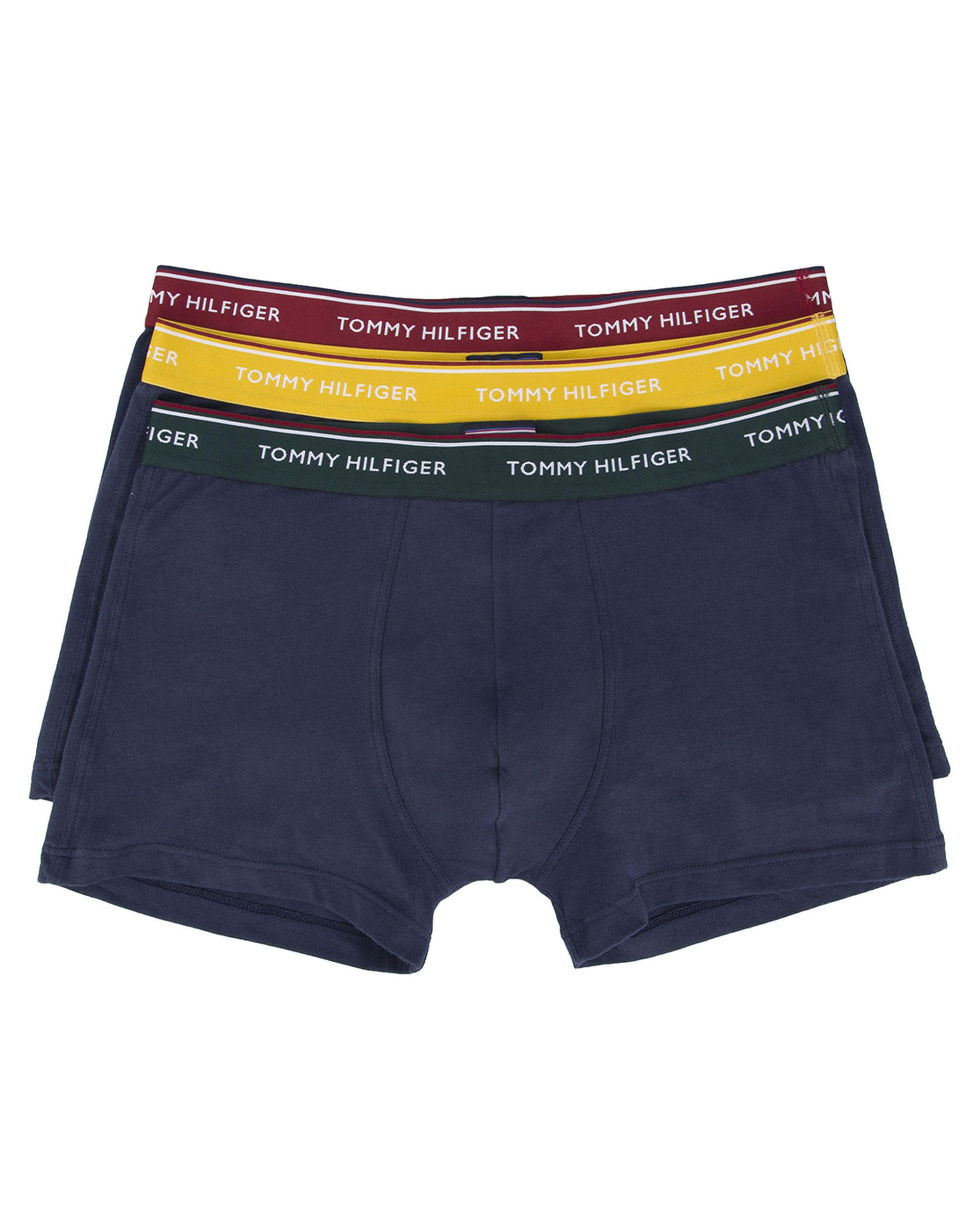 tommy hilfiger 3 pack of navy coloured waistband boxer shorts in blue. Black Bedroom Furniture Sets. Home Design Ideas