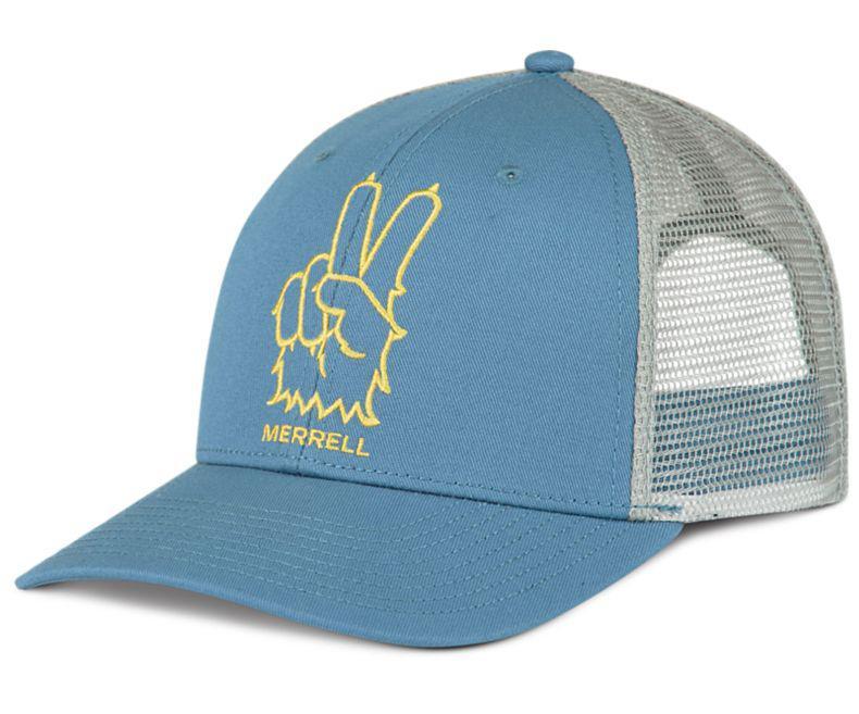 Lyst - Merrell Trailhead Peace Out Trucker Cap in Blue for Men 8743429618c
