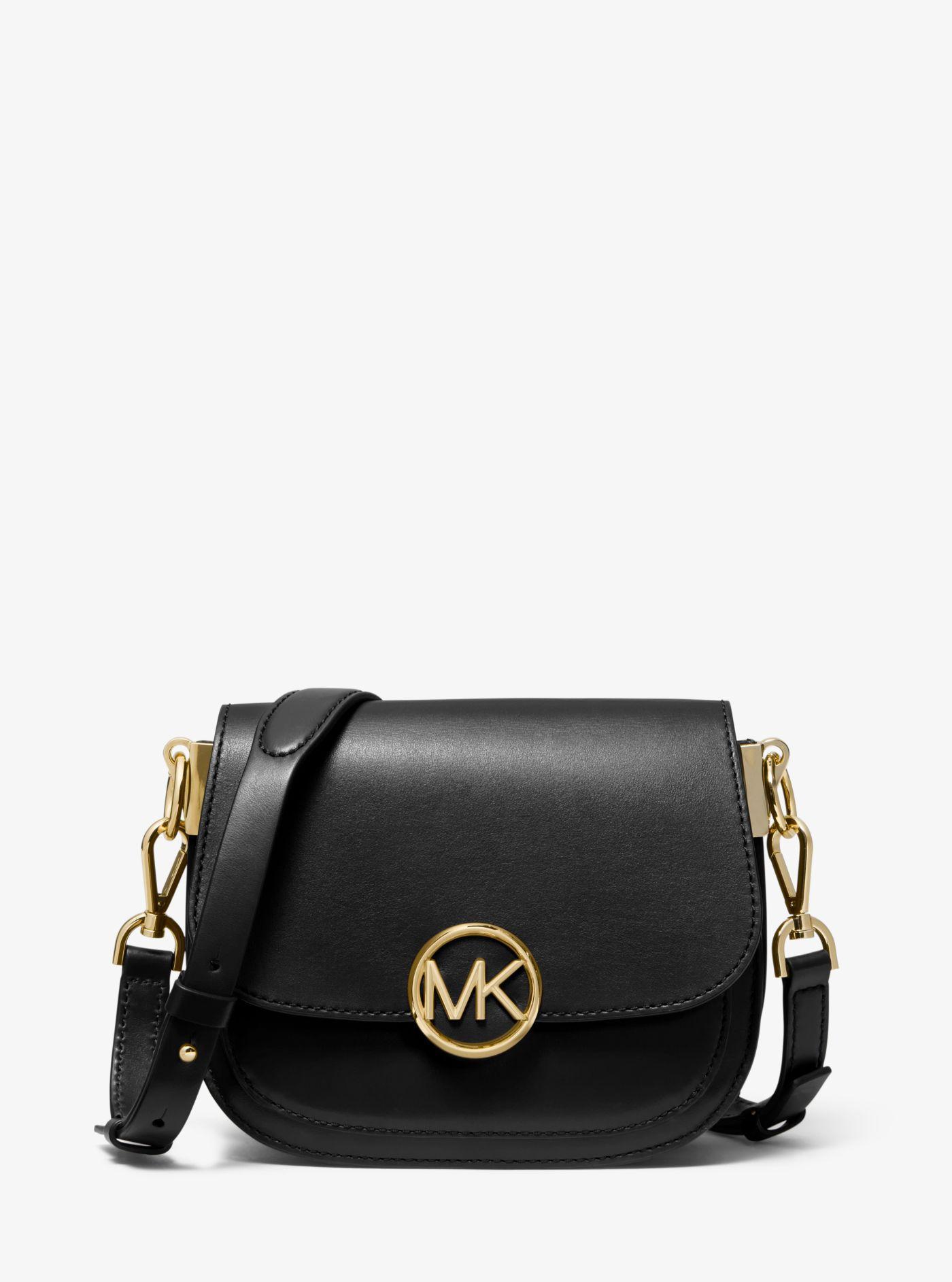 82c47813988 Lyst - Petit sac brun amande Lillie en cuir Michael Kors en coloris Noir