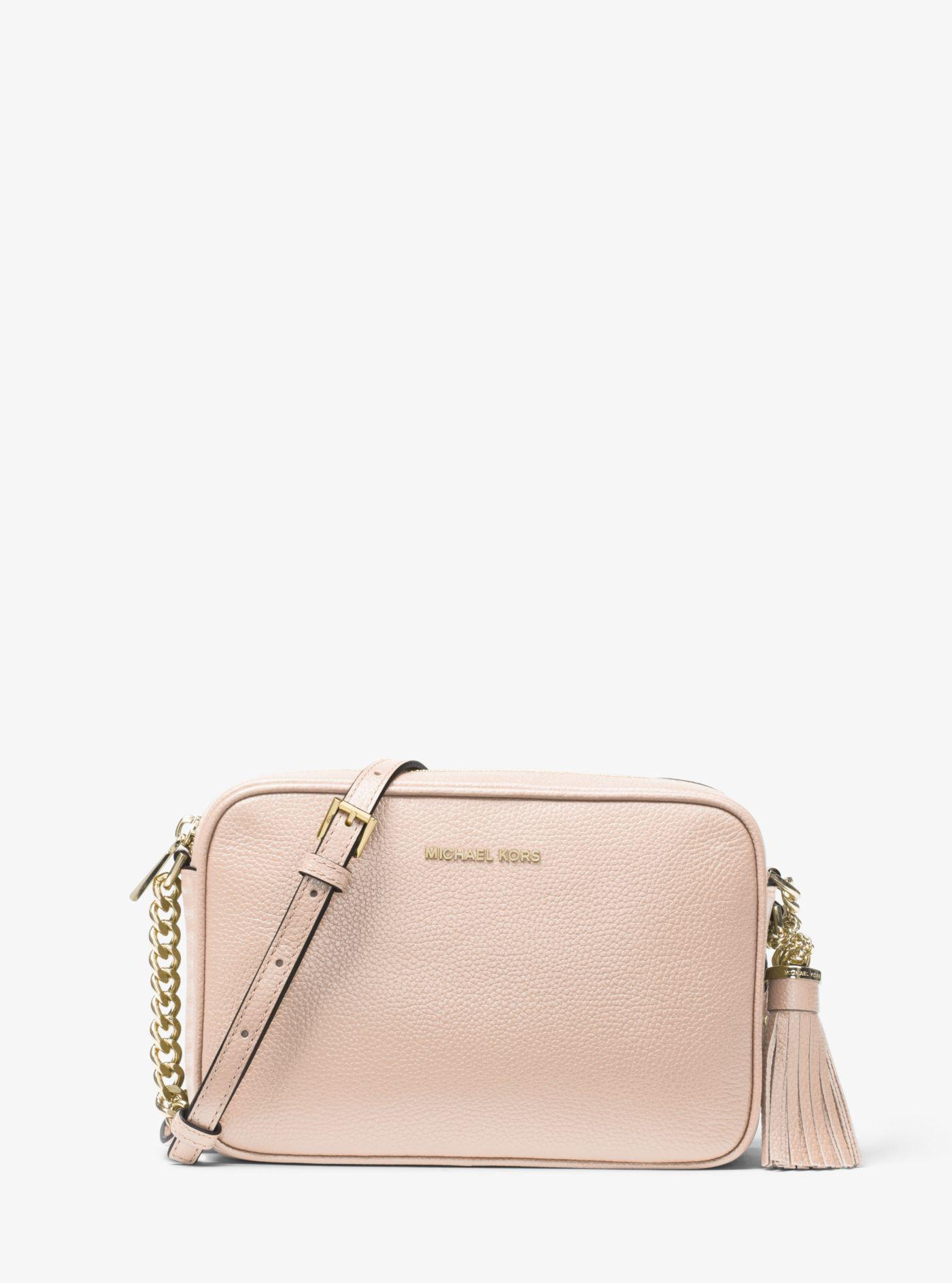 fb23c9699d Lyst - Michael Kors Ginny Leather Crossbody in Pink