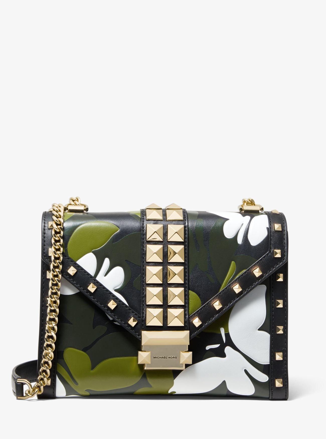 62c423b81fdeed MICHAEL Michael Kors. Women's Black Whitney Large Butterfly Camo  Convertible Shoulder Bag