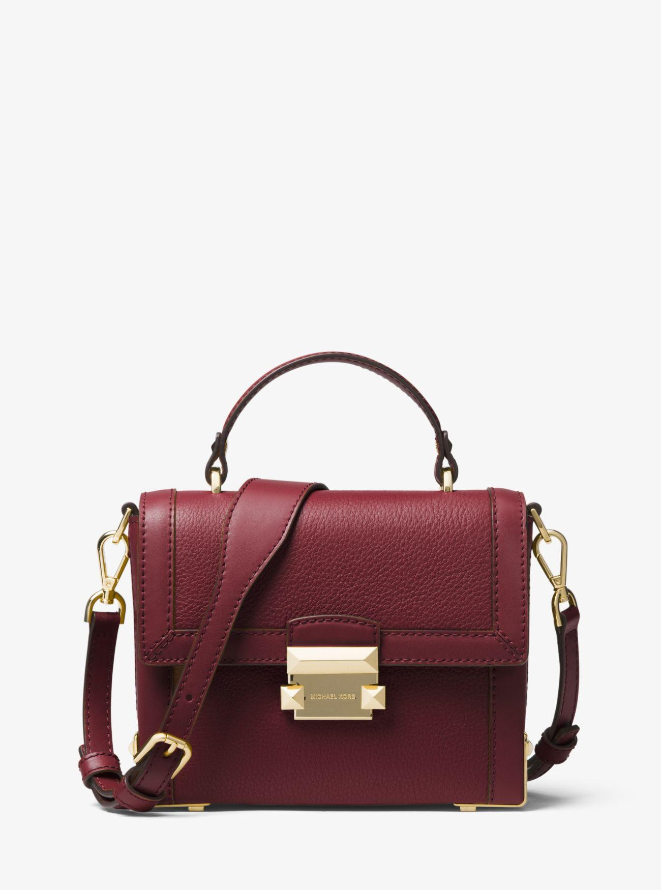 52a59ddf2588 Michael Kors - Multicolor Jayne Small Pebbled Leather Trunk Bag - Lyst.  View fullscreen