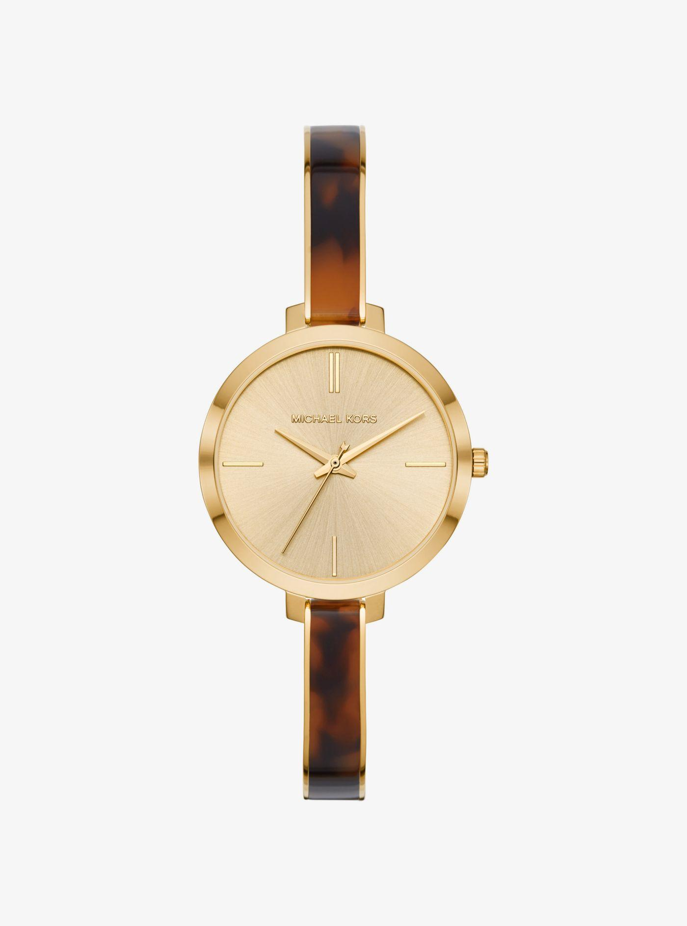 3802891fcb94 Lyst - Michael Kors Jaryn Gold-tone And Acetate Watch in Metallic