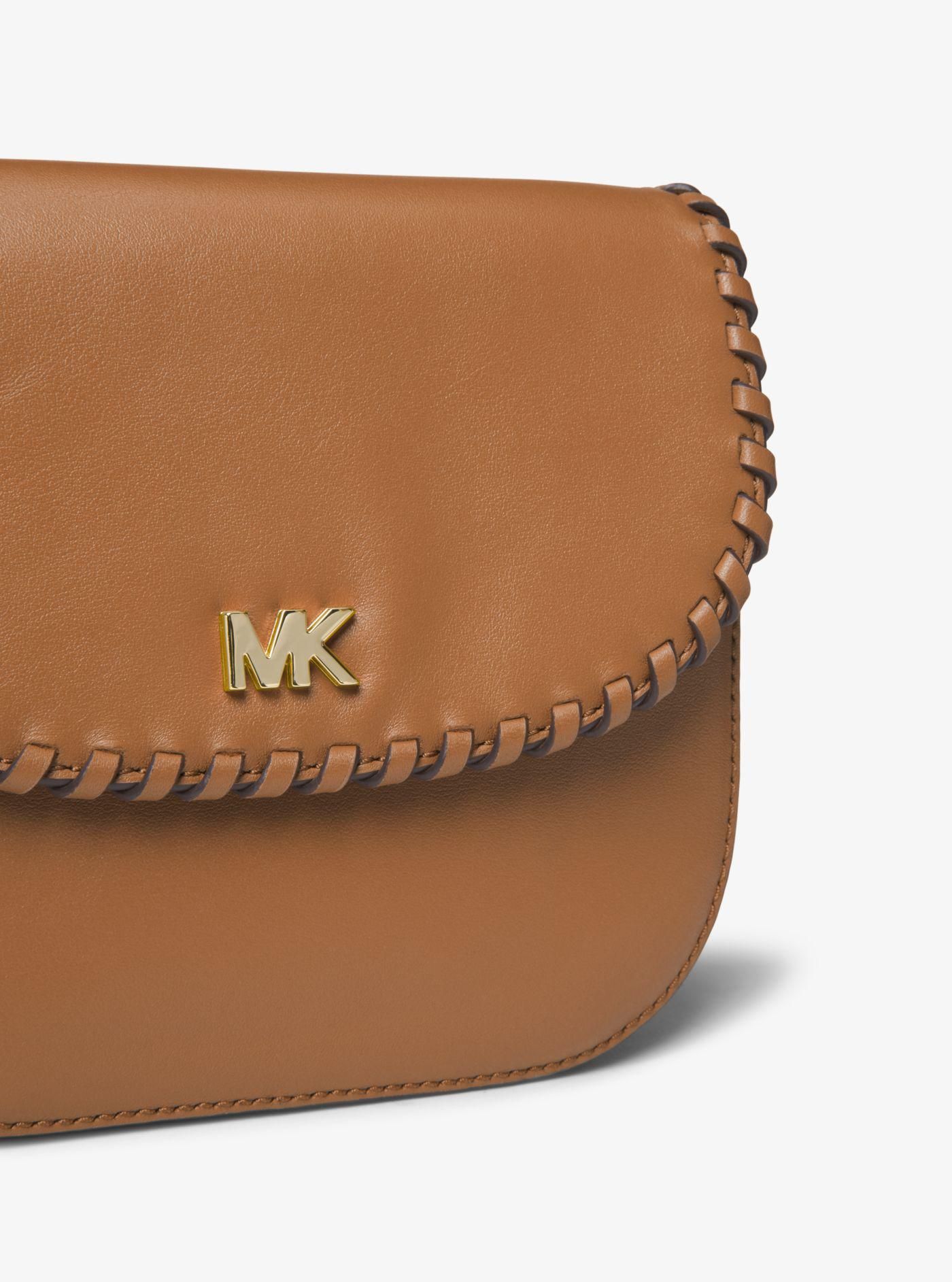 a9d25895c793 Michael Kors Whipstitched Leather Saddle Bag in Brown - Lyst