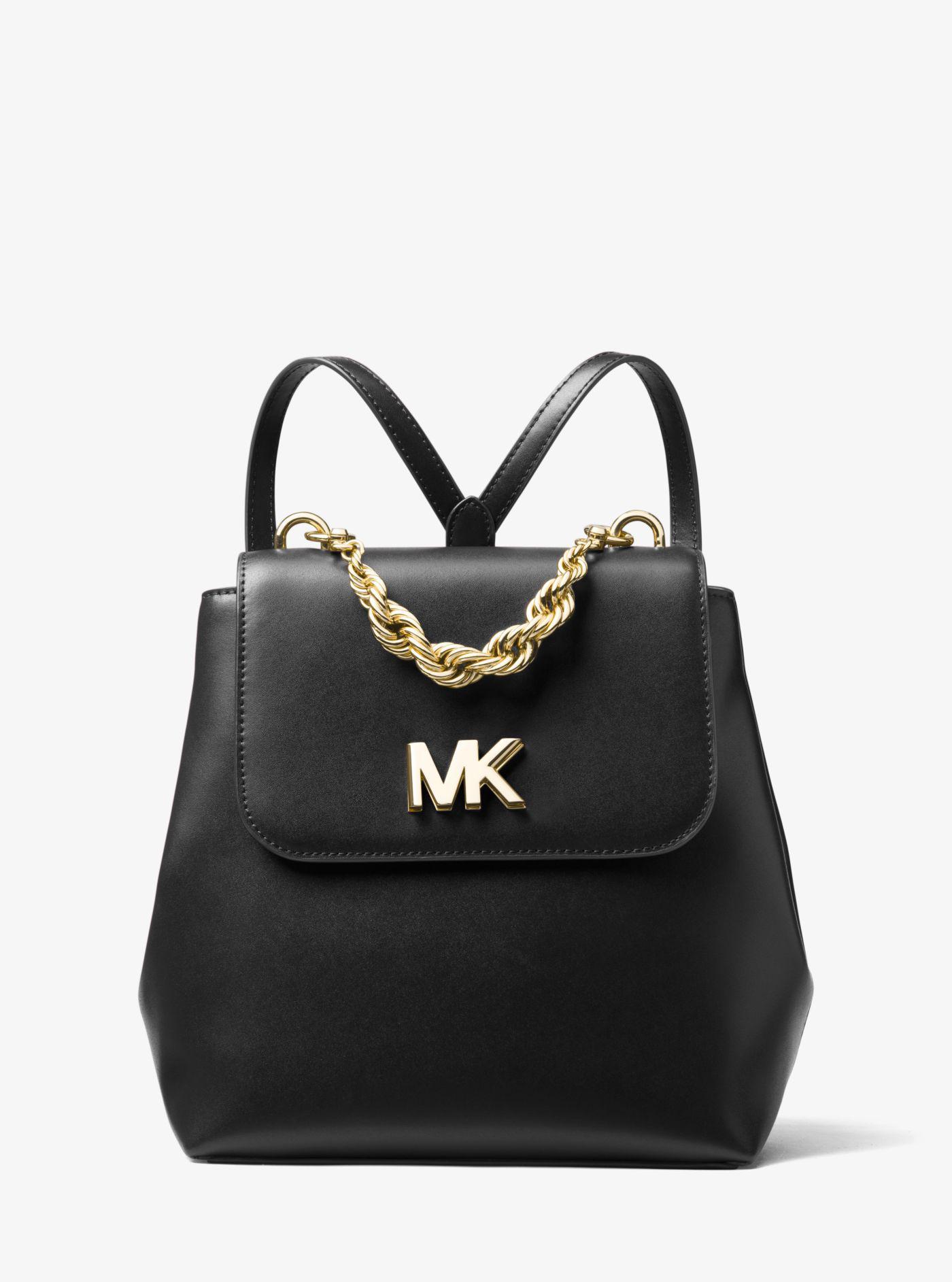 e8355bff645 Lyst - Michael Kors Mott Leather Backpack in Black