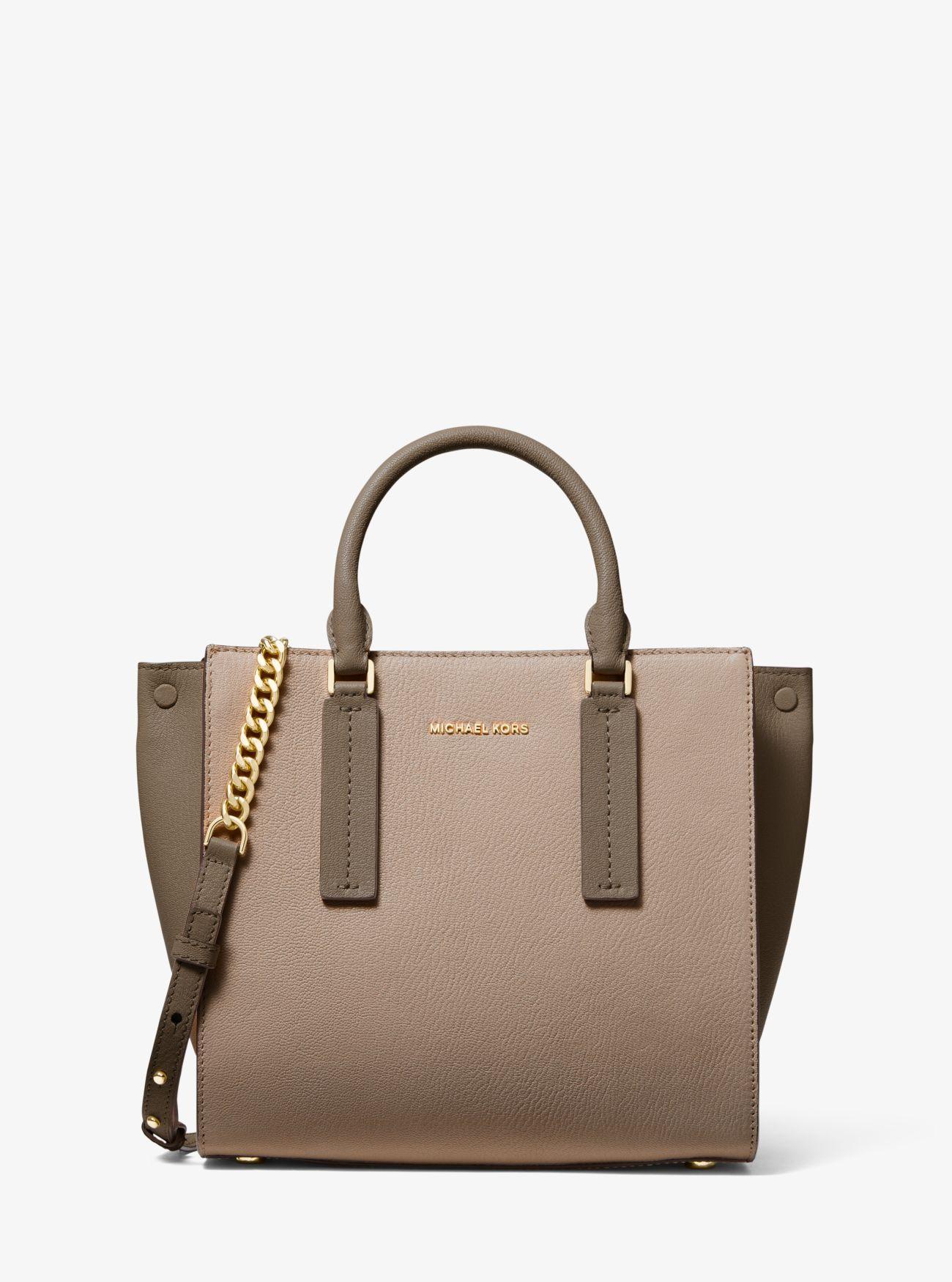 f49332ac1b2e MICHAEL Michael Kors Alessa Medium Color-block Pebbled Leather ...