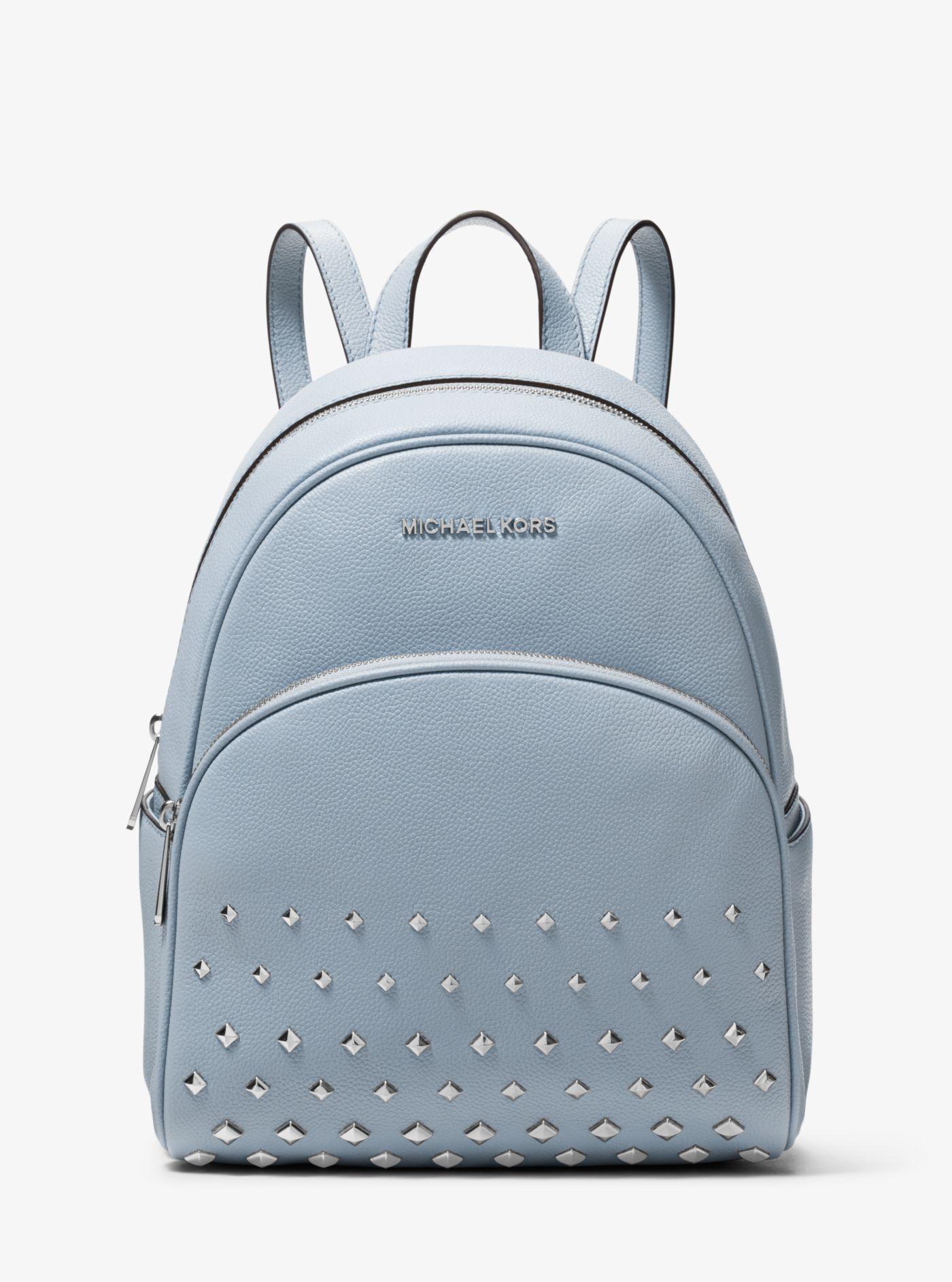 Michael Kors - Blue Abbey Medium Studded Pebbled Leather Backpack - Lyst.  View fullscreen ea7c3e22715e2